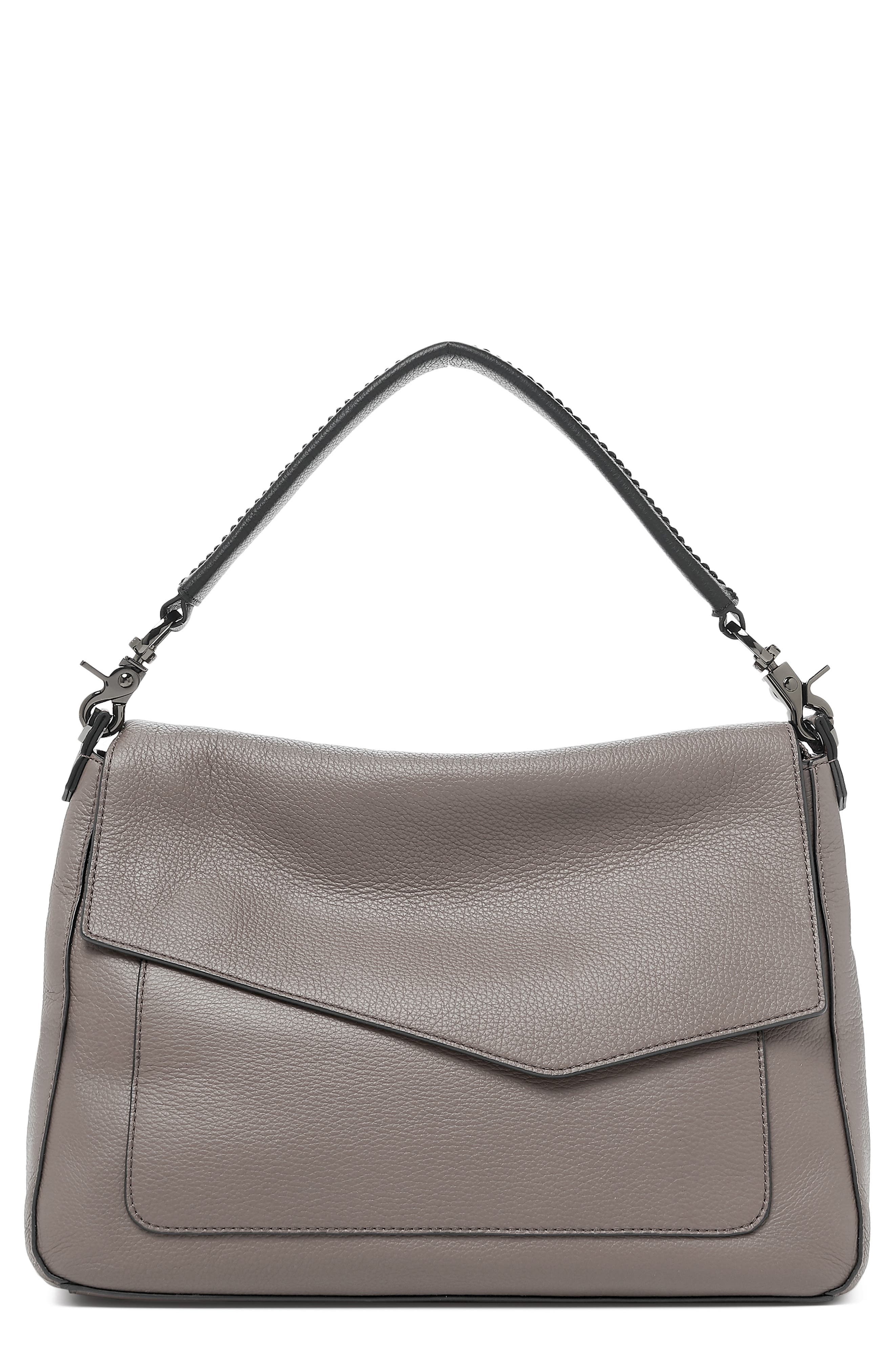 Cobble Hill Slouch Calfskin Leather Hobo,                             Main thumbnail 1, color,                             WINTER GREY