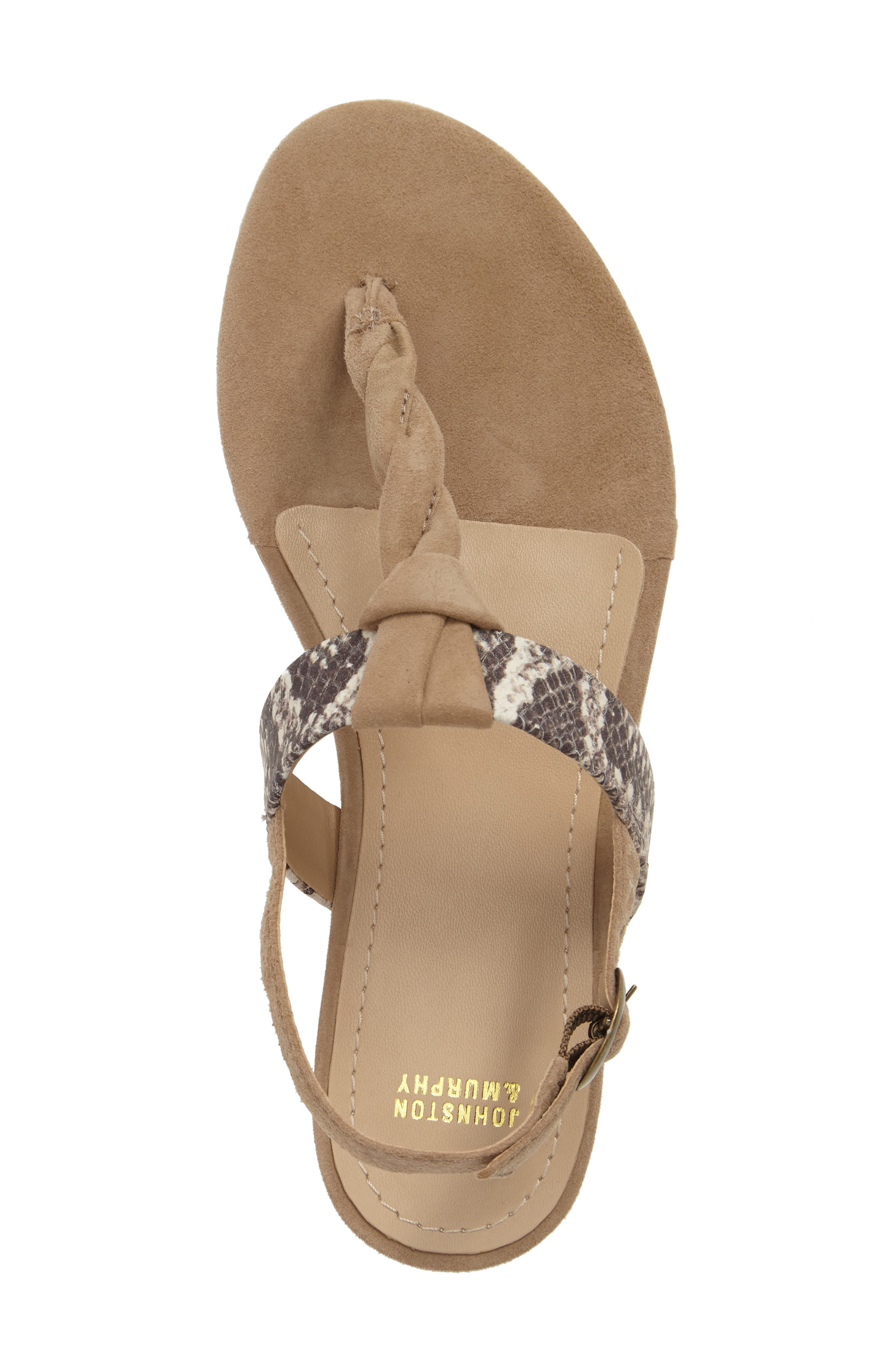 Holly Twisted T-Strap Sandal,                             Alternate thumbnail 23, color,
