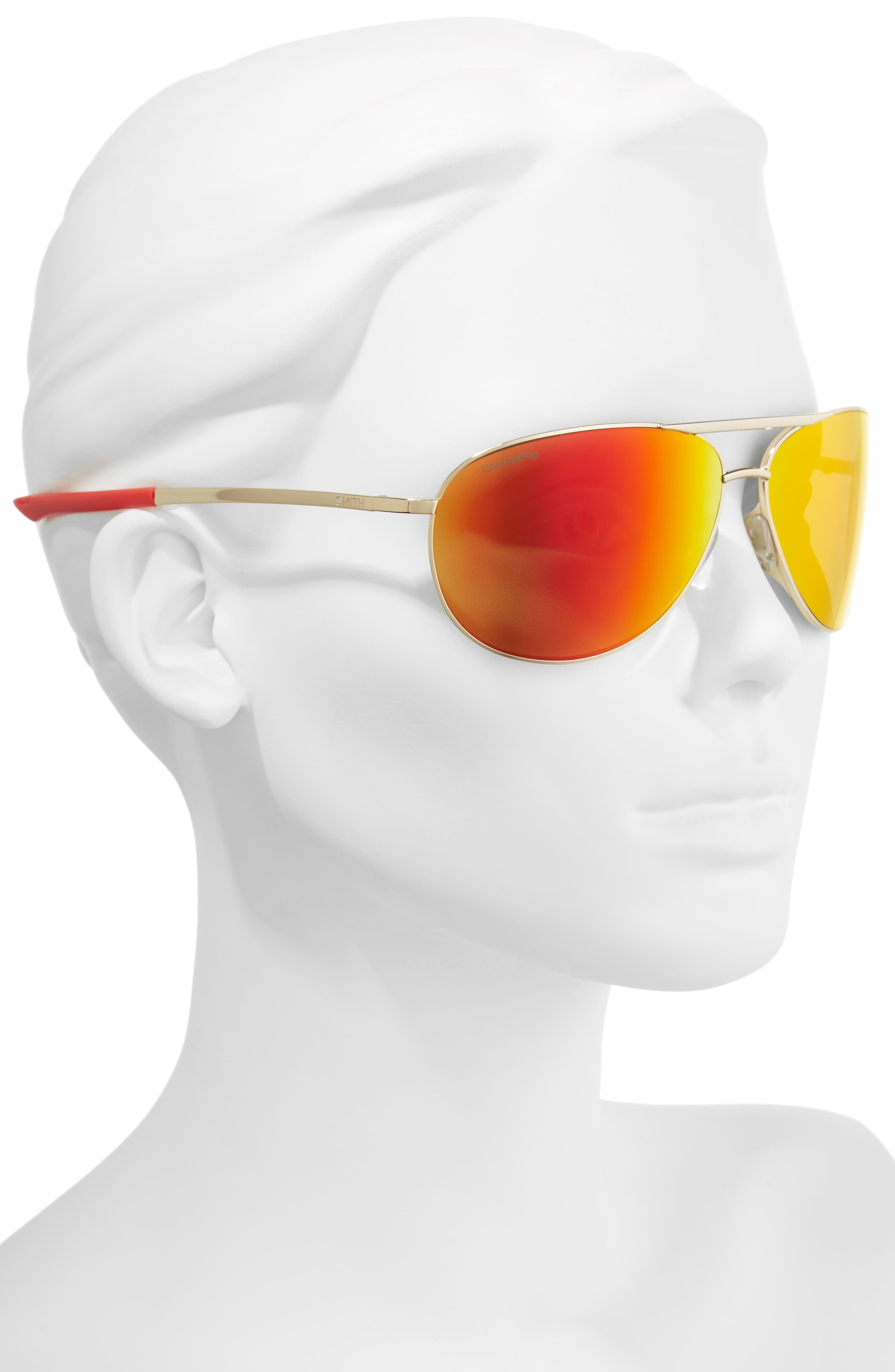 Serpico 2 65mm Mirrored ChromaPop<sup>™</sup> Polarized Aviator Sunglasses,                             Alternate thumbnail 2, color,                             710