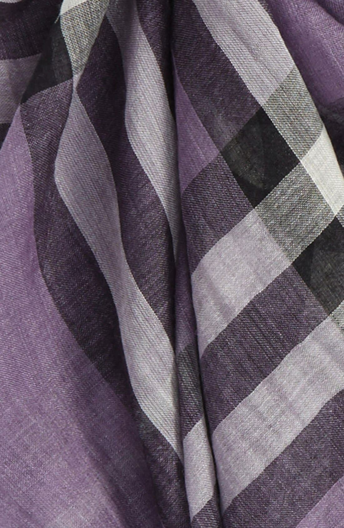 Giant Check Print Wool & Silk Scarf,                             Alternate thumbnail 137, color,