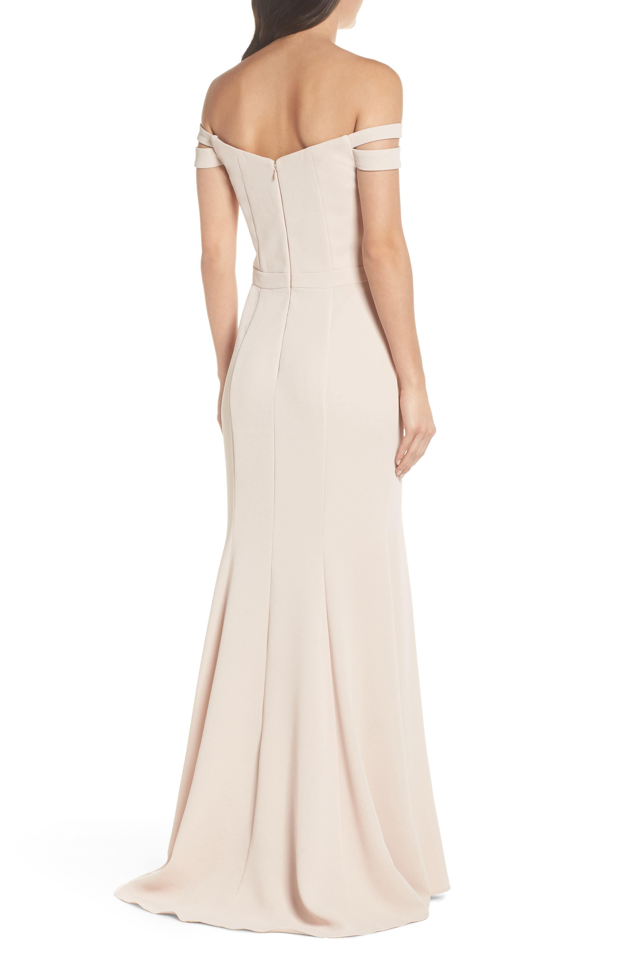 Off the Shoulder Trumpet Gown,                             Alternate thumbnail 2, color,                             680