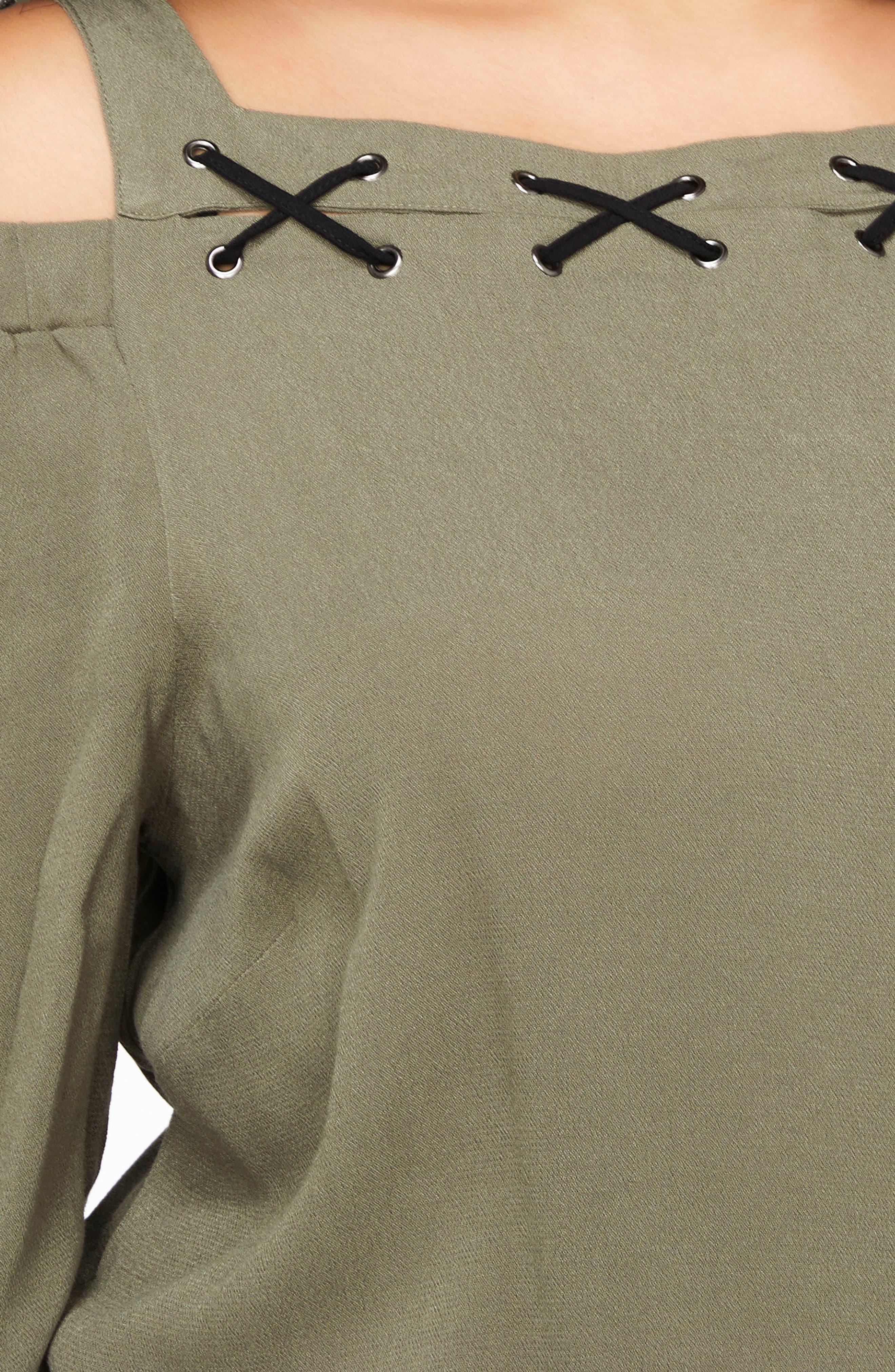 Cold Shoulder Top,                             Alternate thumbnail 3, color,