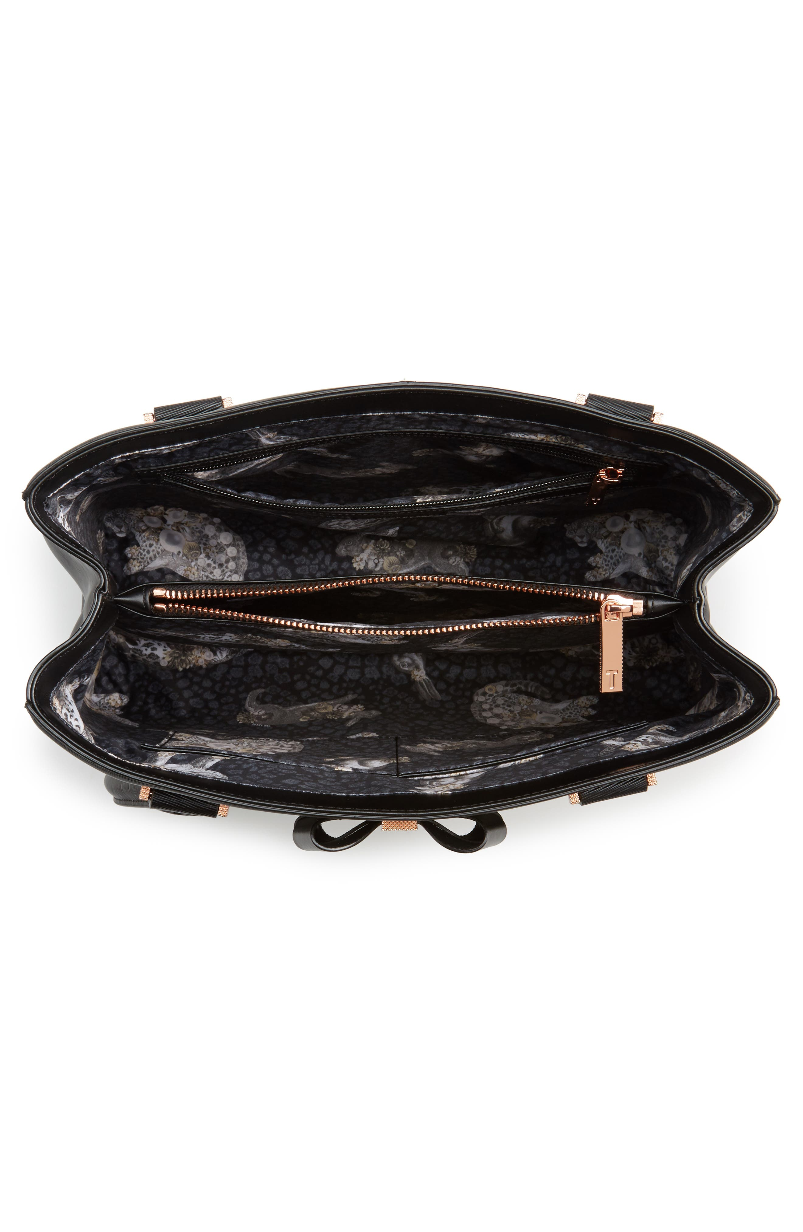 Callaa Bow Leather Shopper,                             Alternate thumbnail 10, color,