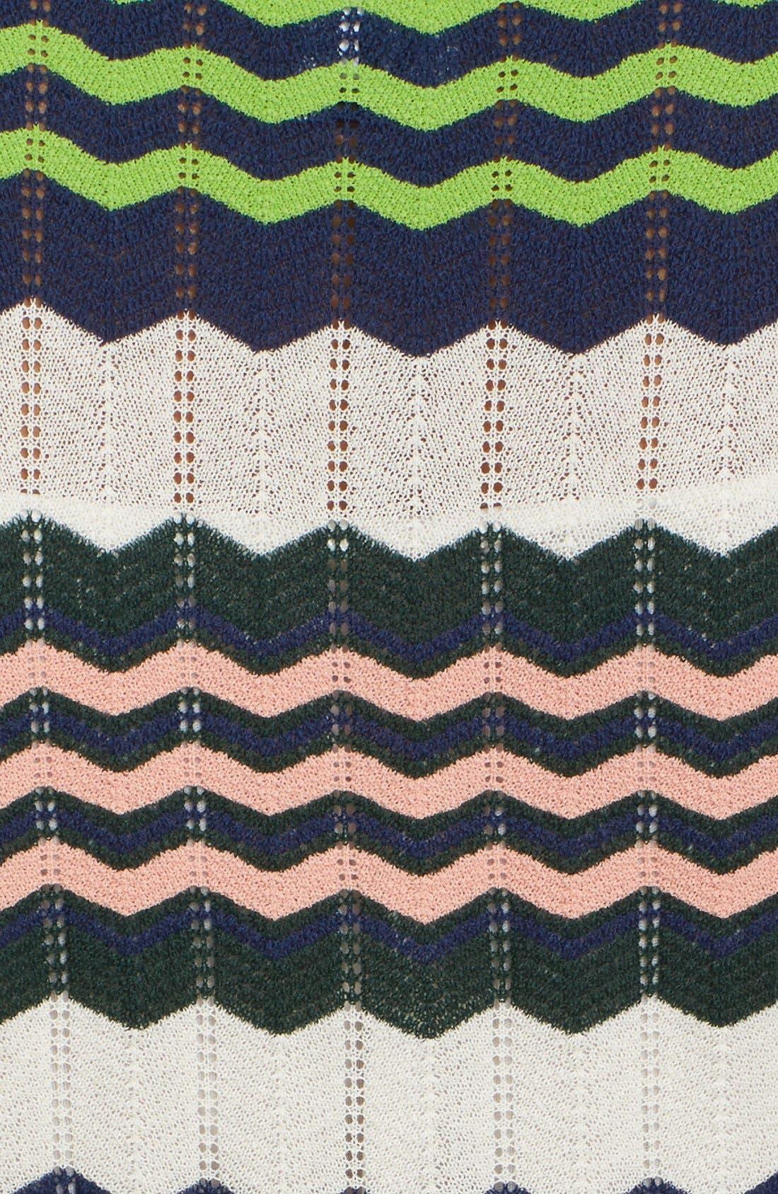 Zigzag Stripe Knit A-Line Dress,                             Alternate thumbnail 5, color,                             900