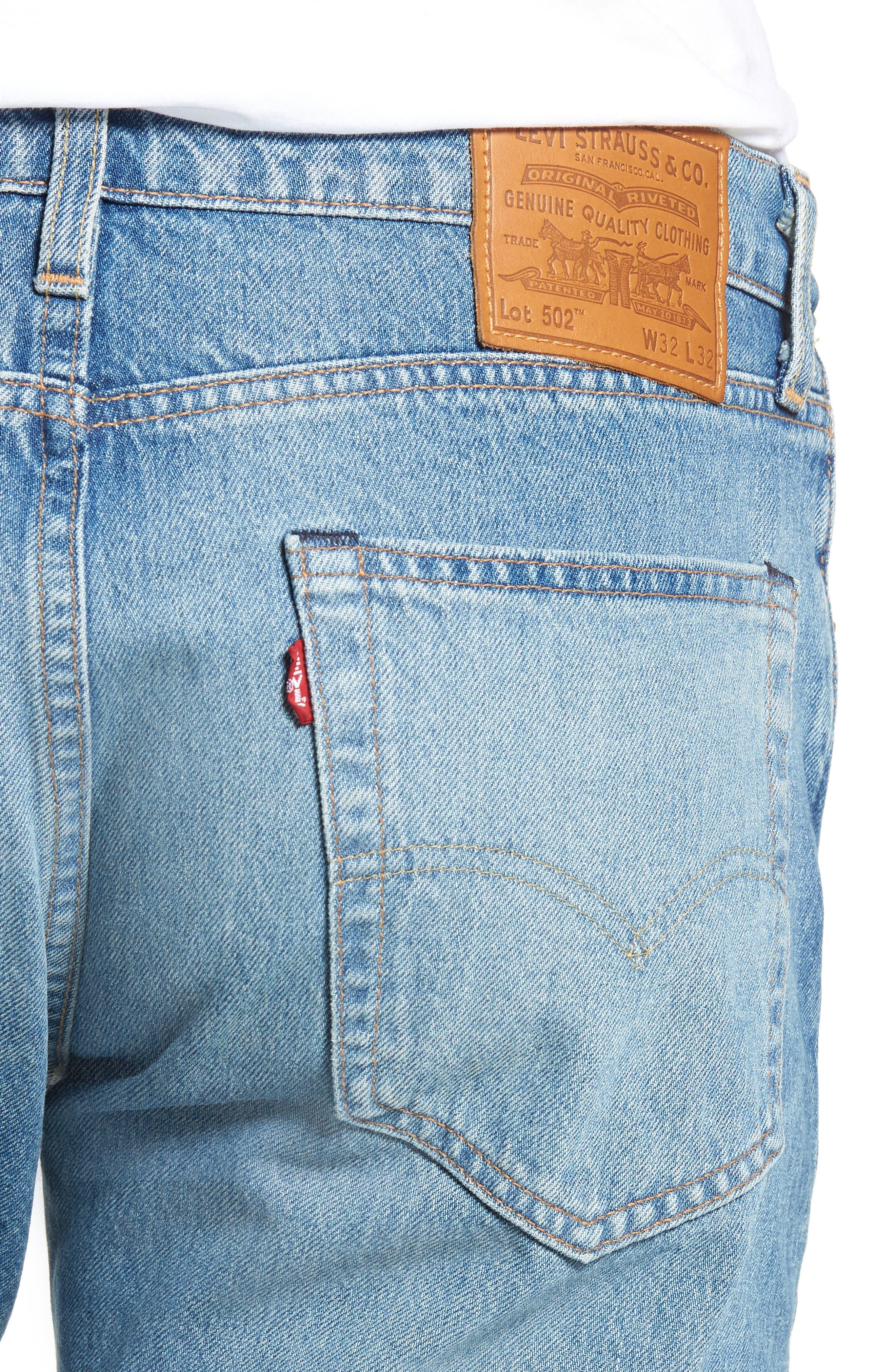 502<sup>™</sup> Slim Fit Jeans,                             Alternate thumbnail 4, color,                             GRANDPAS WARP
