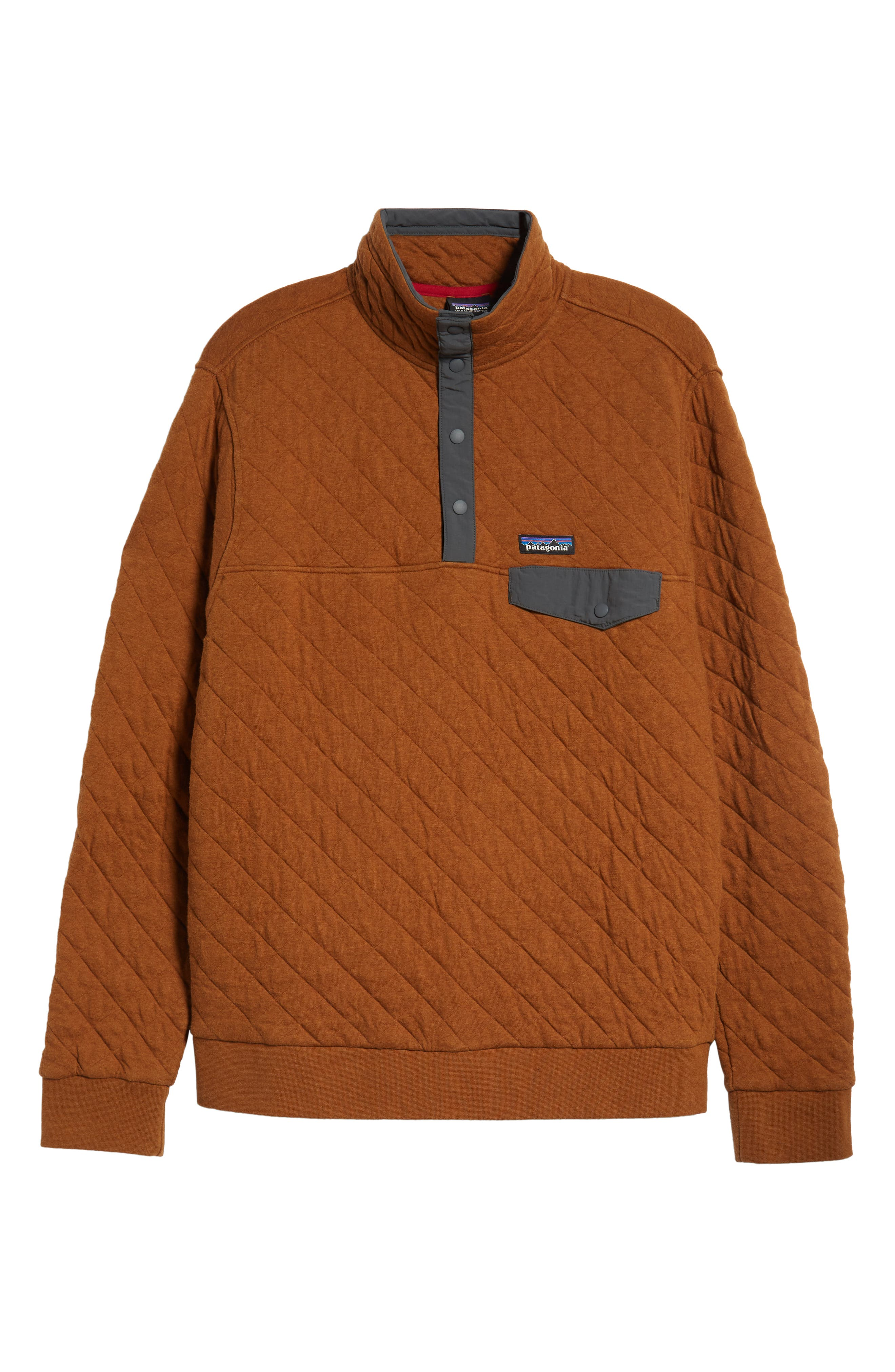 Snap-T<sup>®</sup> Quilted Fleece Pullover,                             Alternate thumbnail 6, color,                             BENCE BROWN