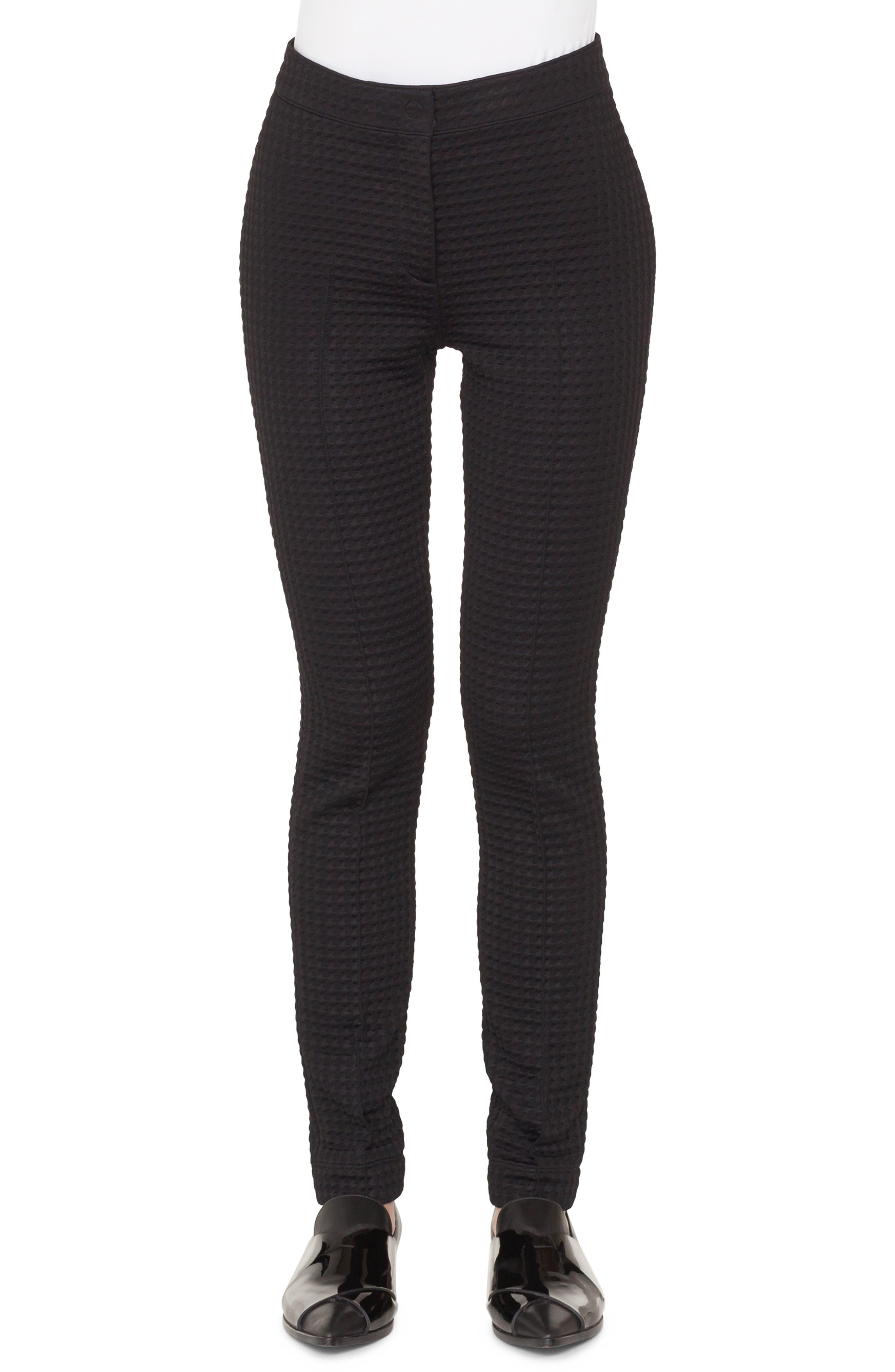 Mara Stretch Jersey Pants,                             Main thumbnail 1, color,                             NERO
