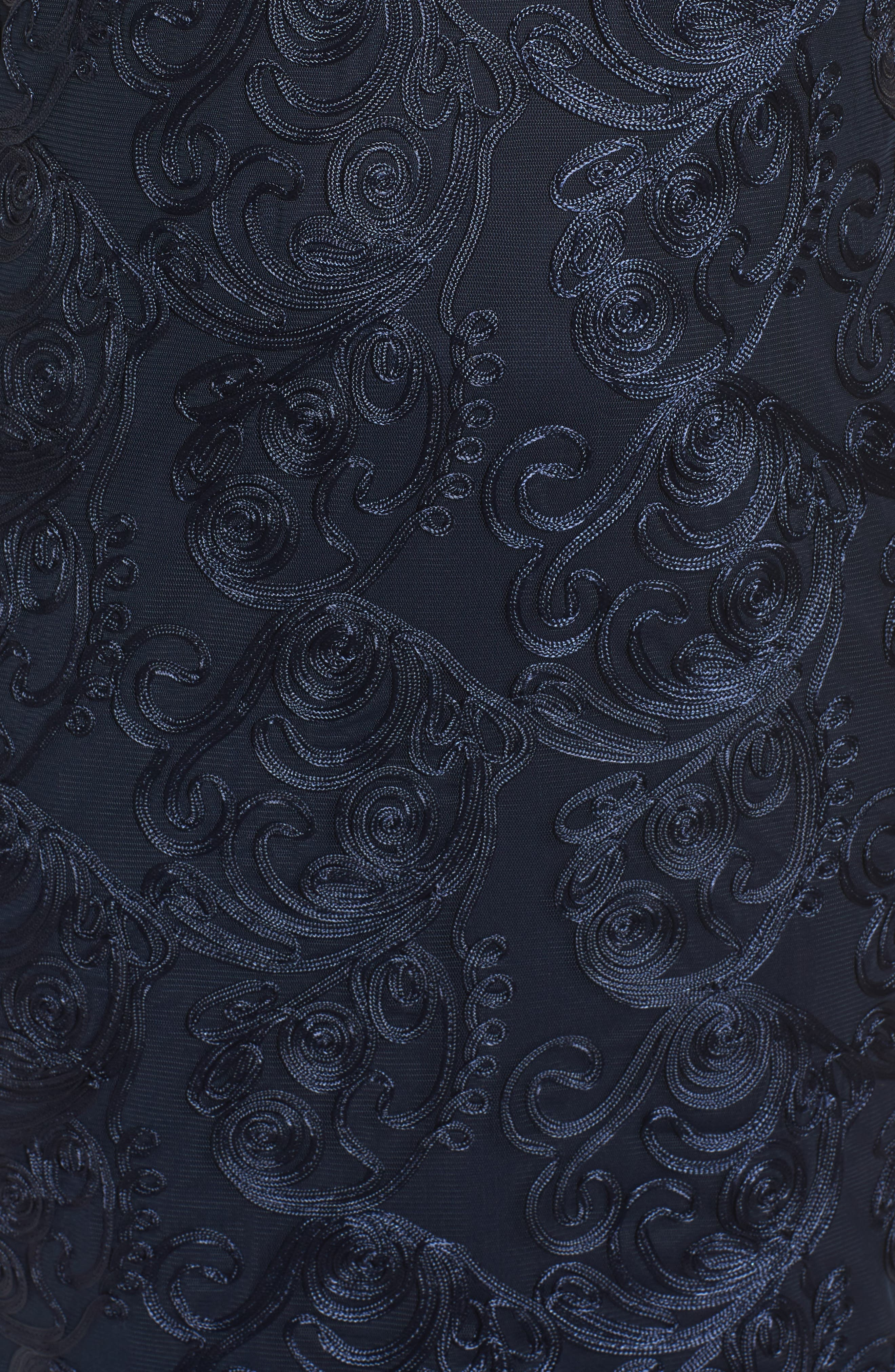 Soutache Sheath Dress,                             Alternate thumbnail 5, color,                             400