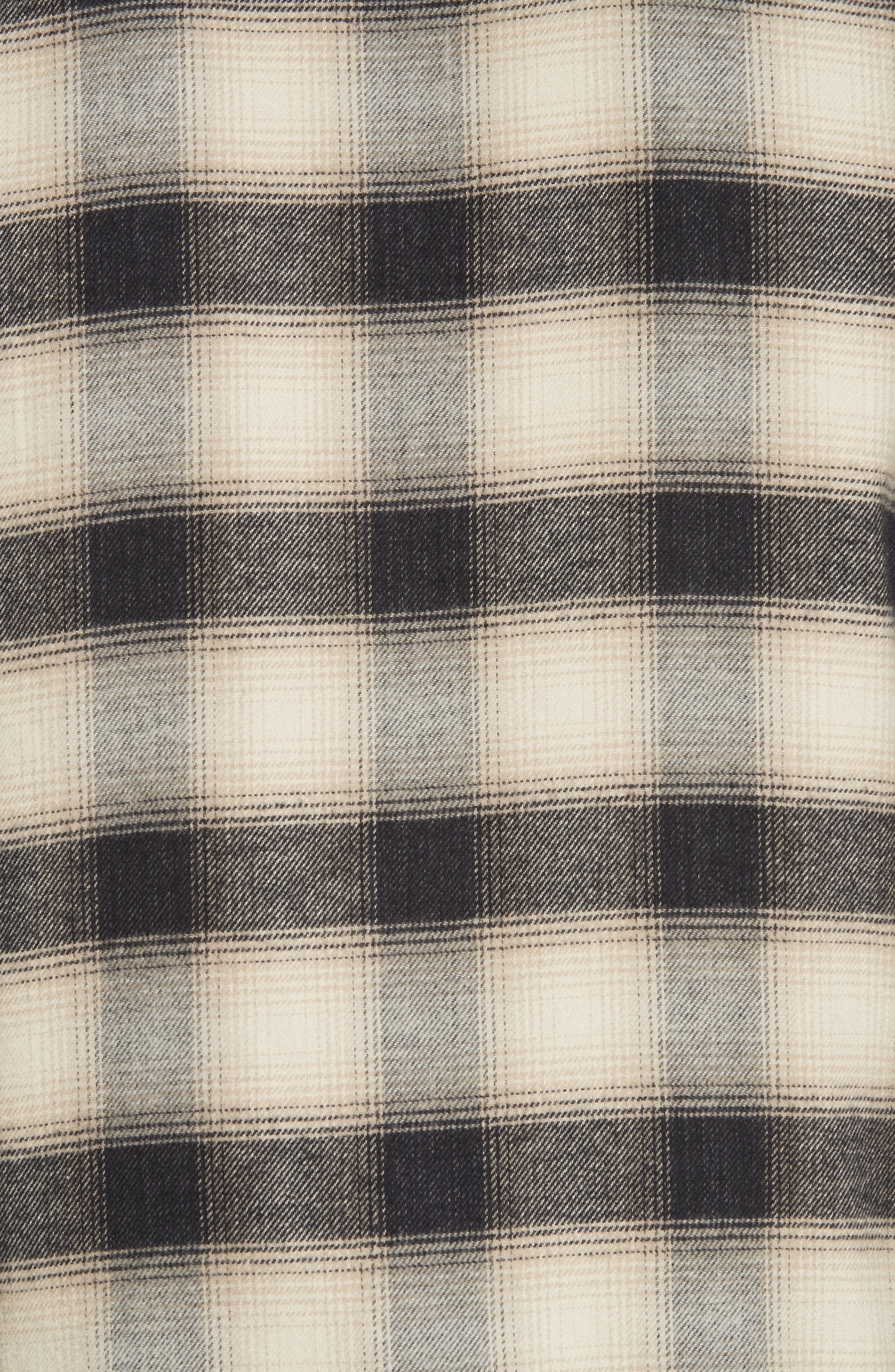 Brushed Flannel Shirt,                             Alternate thumbnail 5, color,                             101