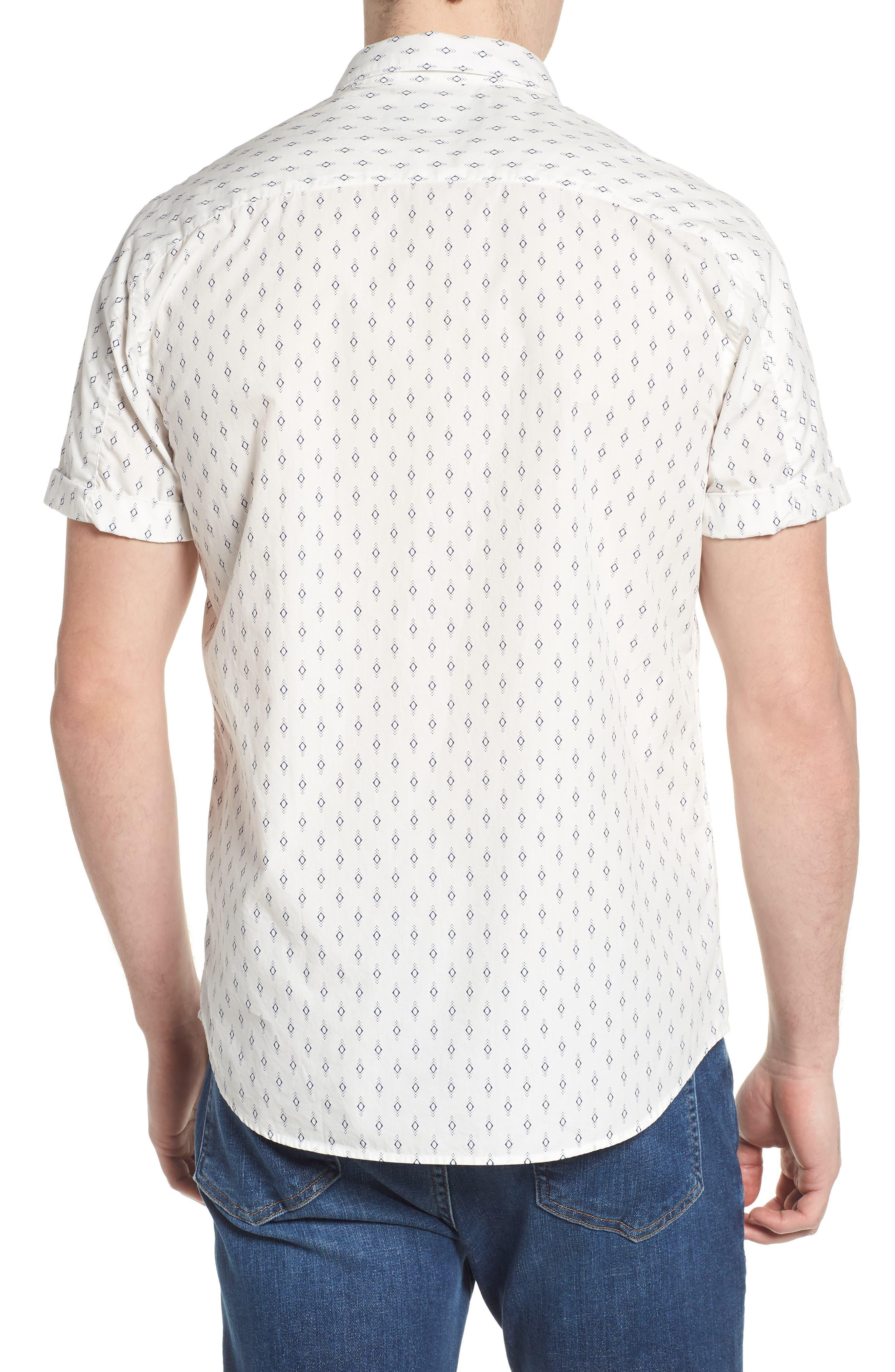 Classic Fit Print Woven Shirt,                             Alternate thumbnail 2, color,                             101