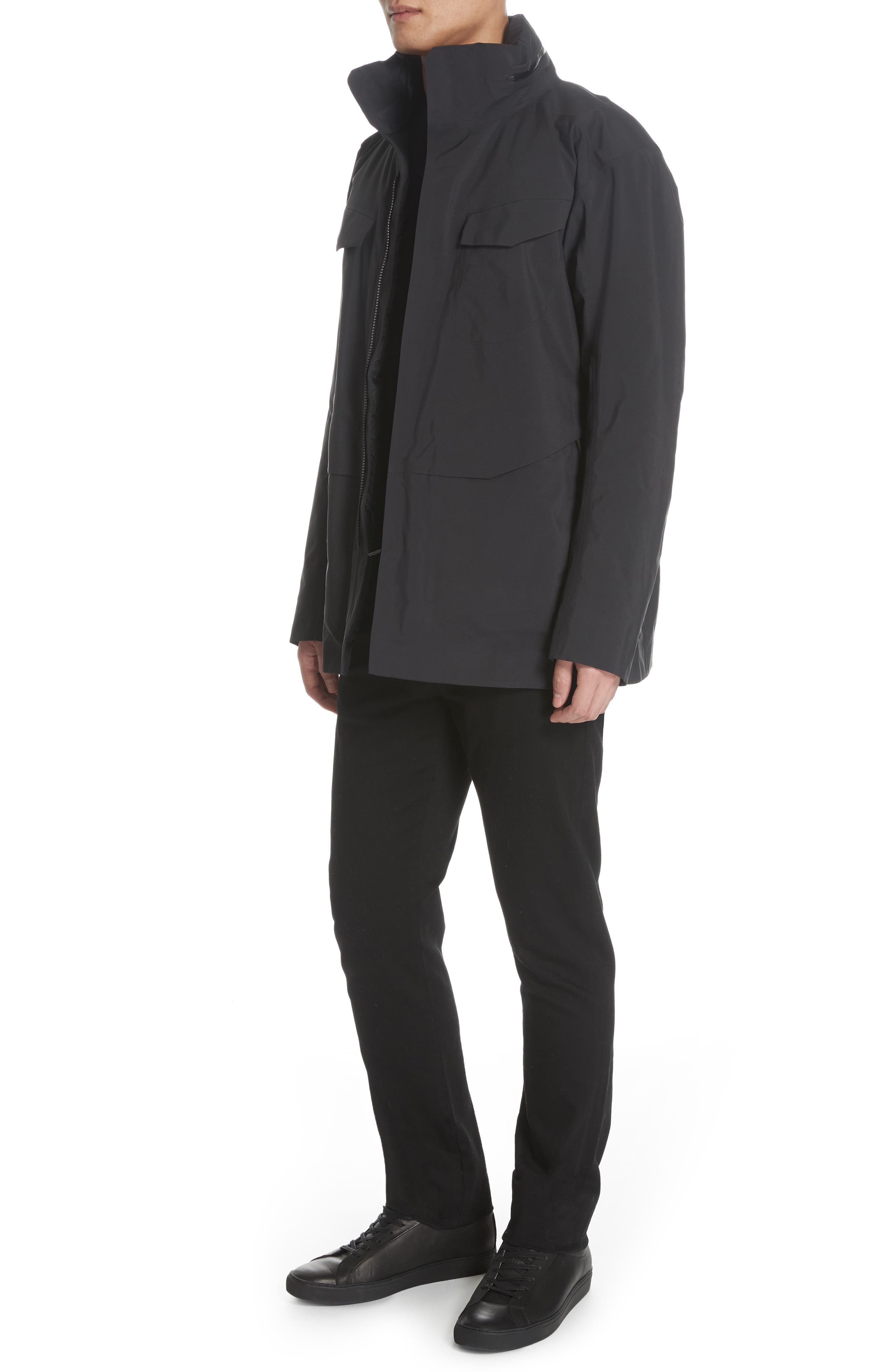 Gore-Tex<sup>®</sup> Pro Waterproof/Windproof Insulated Field Jacket,                             Alternate thumbnail 4, color,                             BLACK
