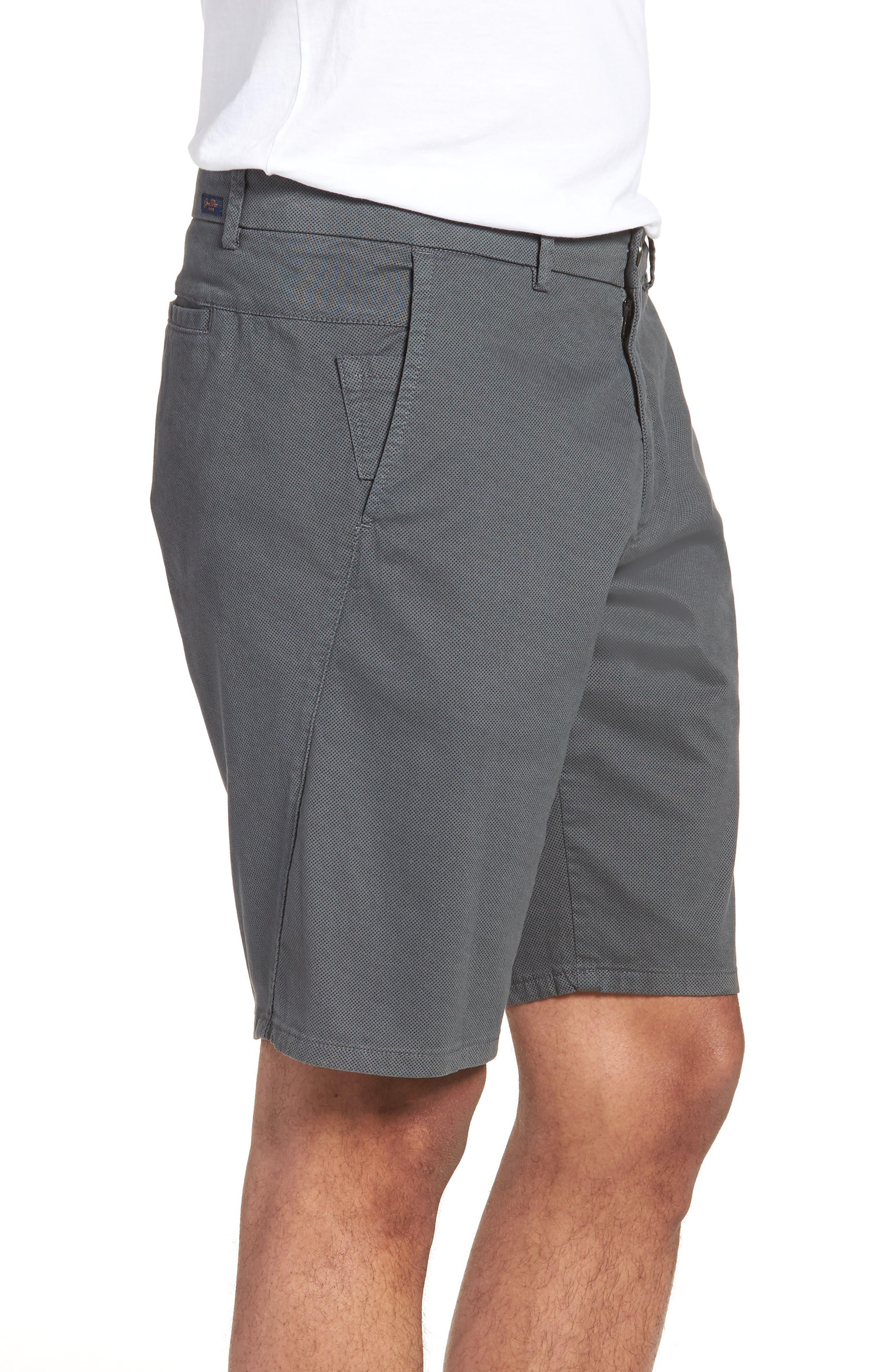 Wrap Microdot Stretch Chino Shorts,                             Alternate thumbnail 3, color,                             051