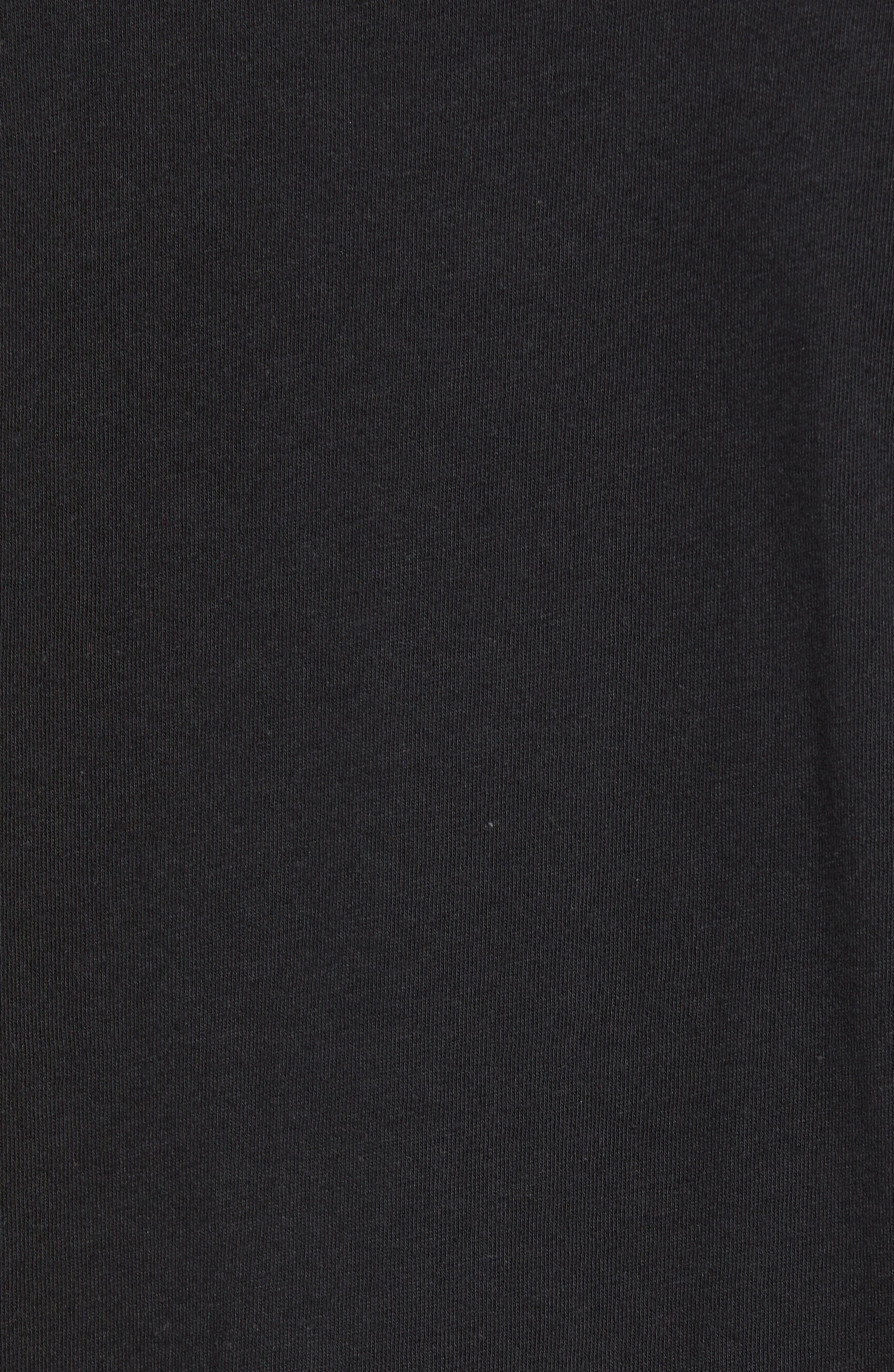 Blade Peace Graphic T-Shirt,                             Alternate thumbnail 5, color,                             BLACK