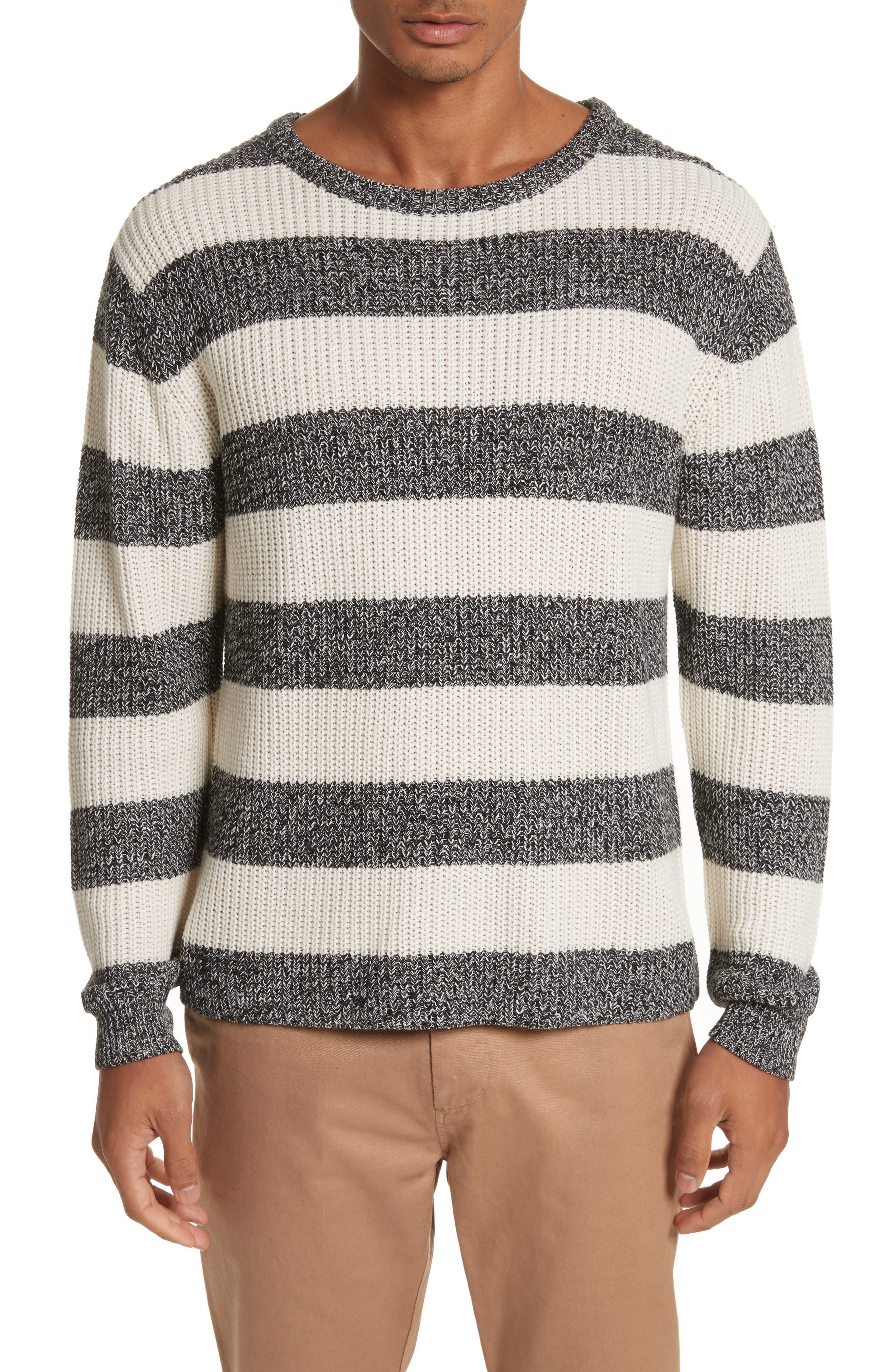 Lee Stripe Crewneck Sweater,                             Main thumbnail 1, color,                             101
