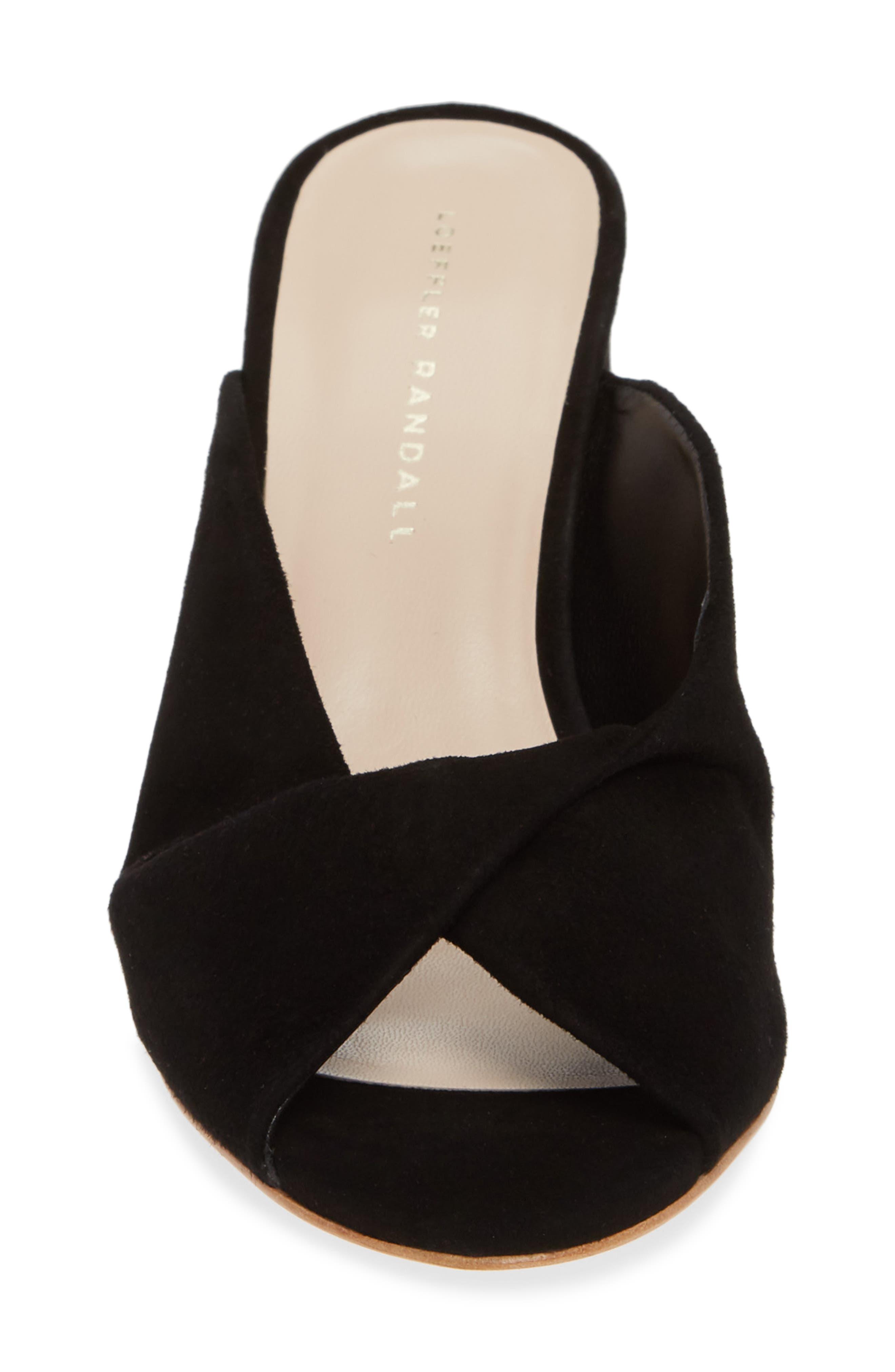 Laurel Slide Sandal,                             Alternate thumbnail 4, color,                             BLACK