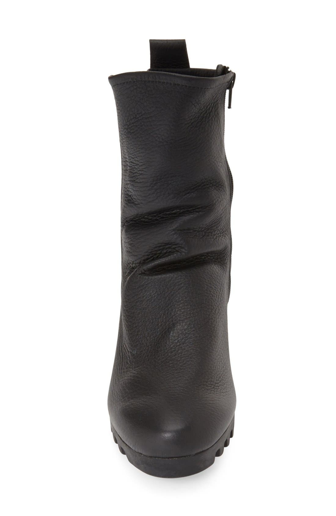 'Larazo' Bootie,                             Alternate thumbnail 3, color,                             BLACK LEATHER