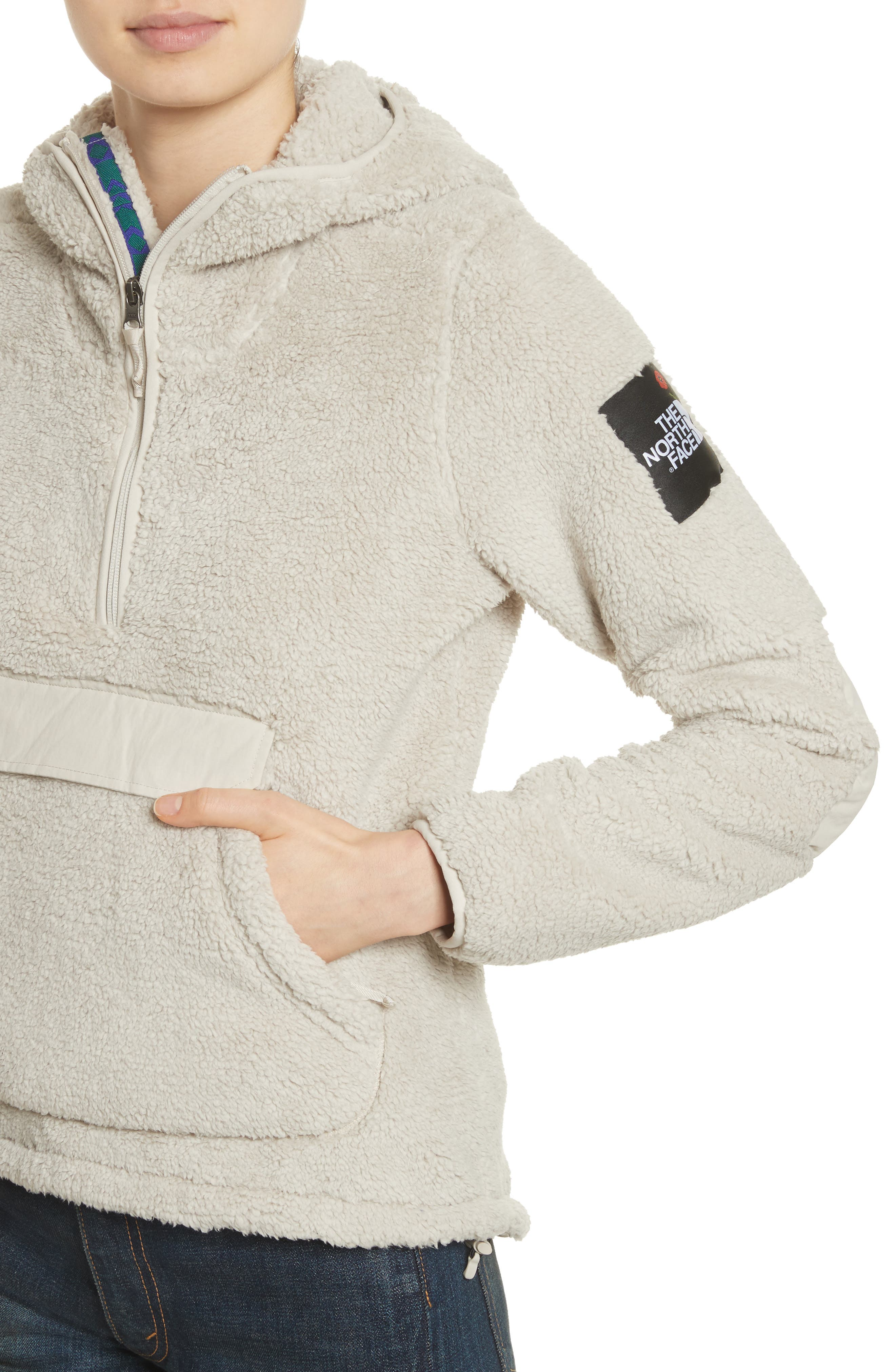 Campshire High Pile Fleece Pullover Hoodie,                             Alternate thumbnail 8, color,