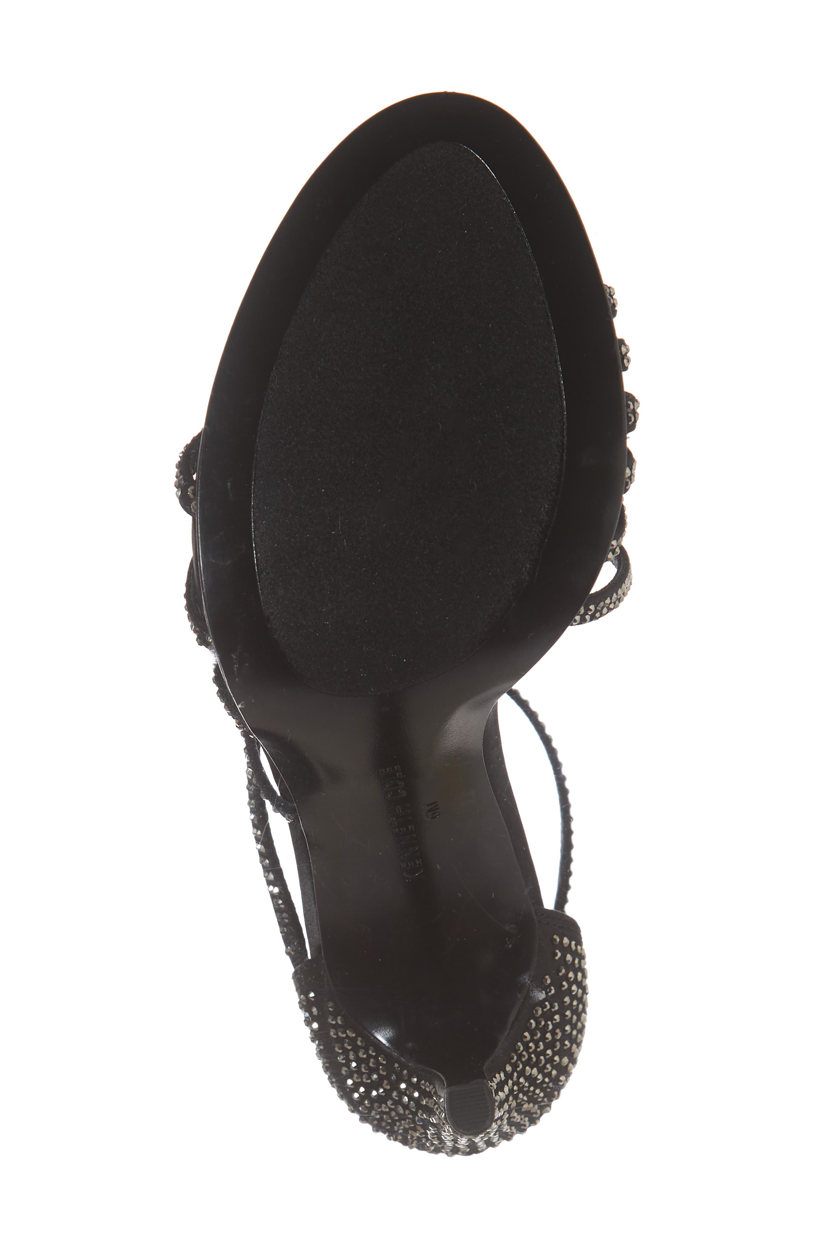 Barletta Asymmetrical Strappy Sandal,                             Alternate thumbnail 6, color,                             001