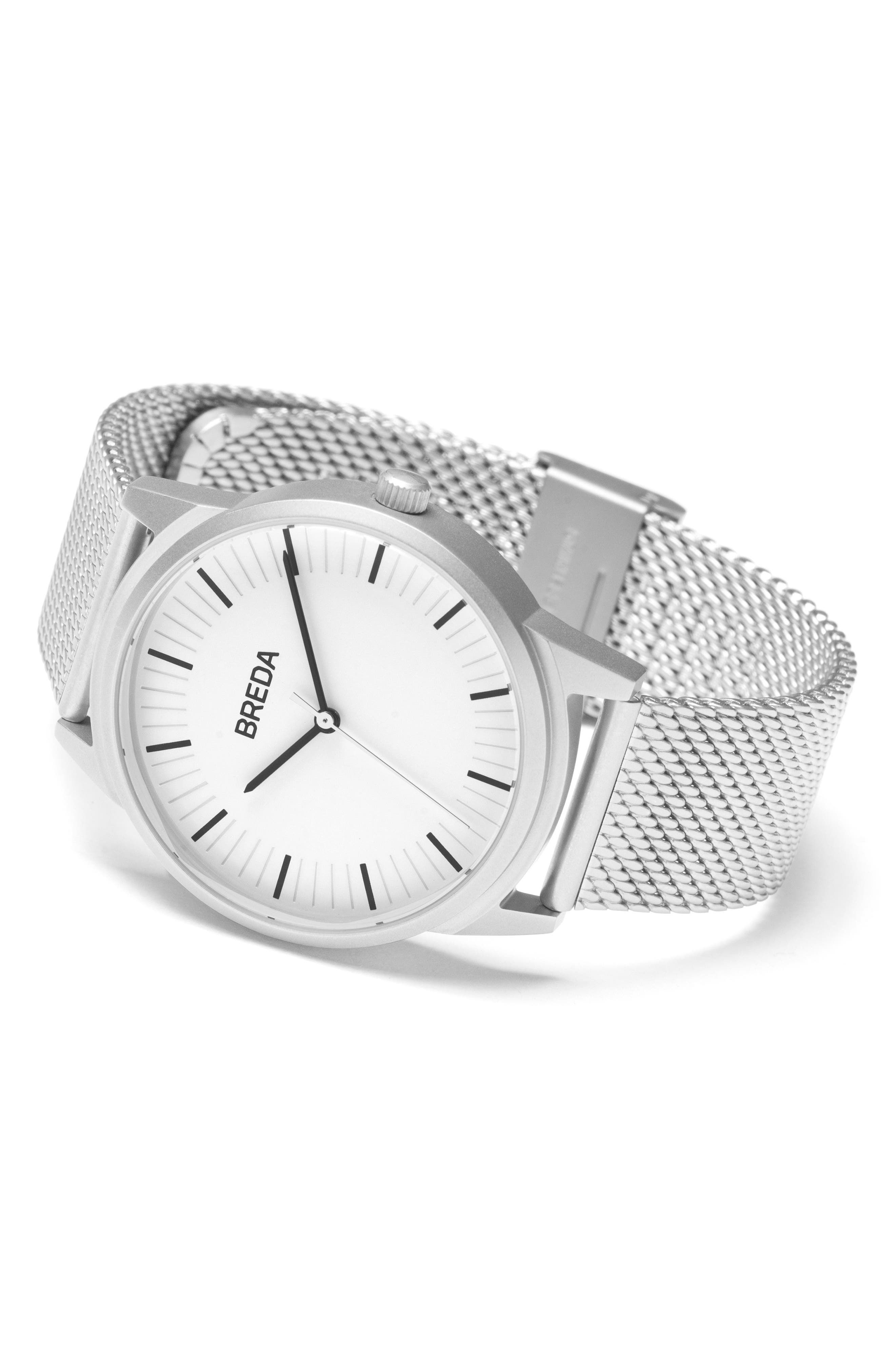 Bresson Mesh Strap Watch, 39mm,                             Alternate thumbnail 8, color,