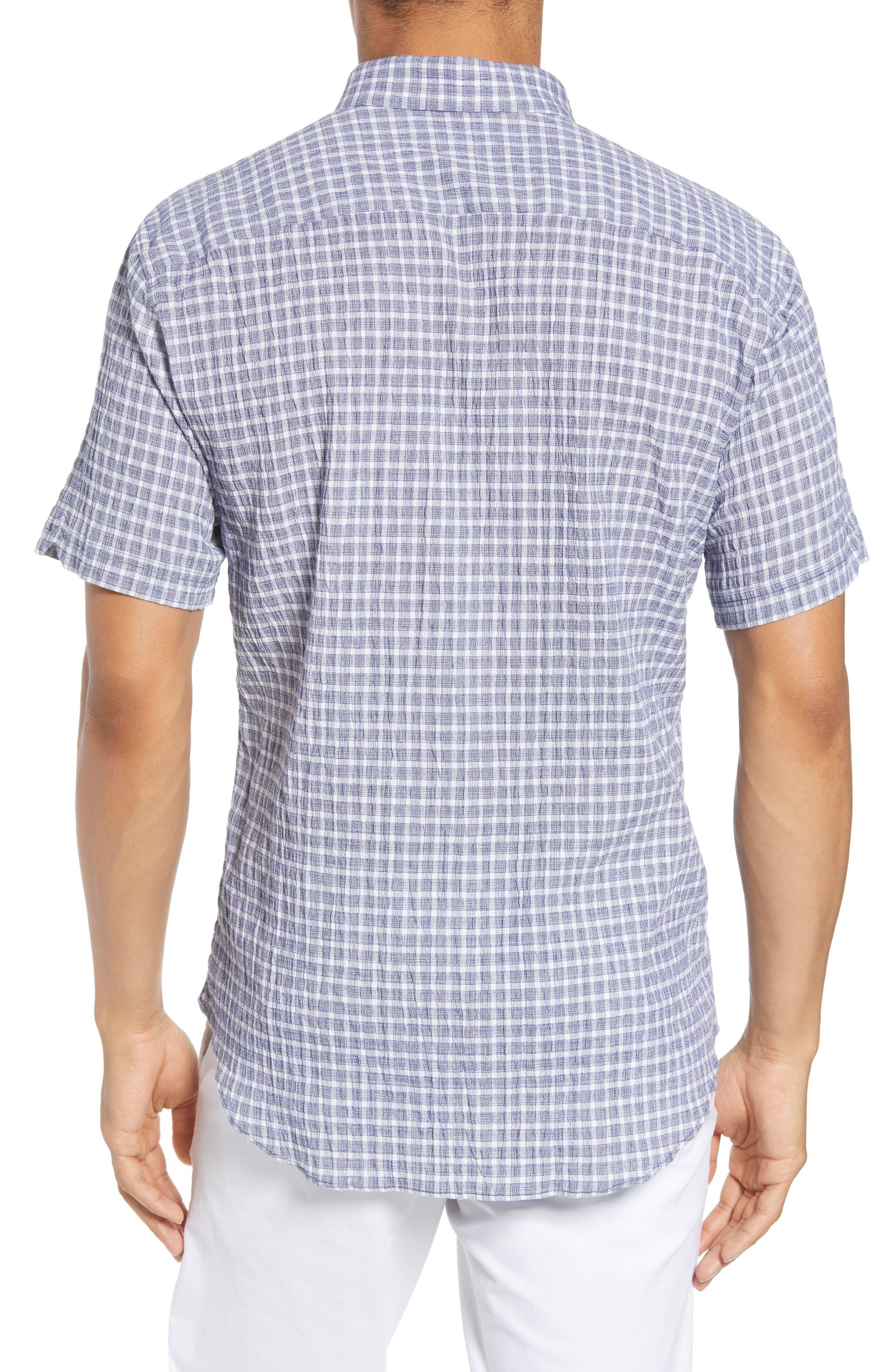 Nicomini Trim Fit Plaid Popover Sport Shirt,                             Alternate thumbnail 2, color,                             411