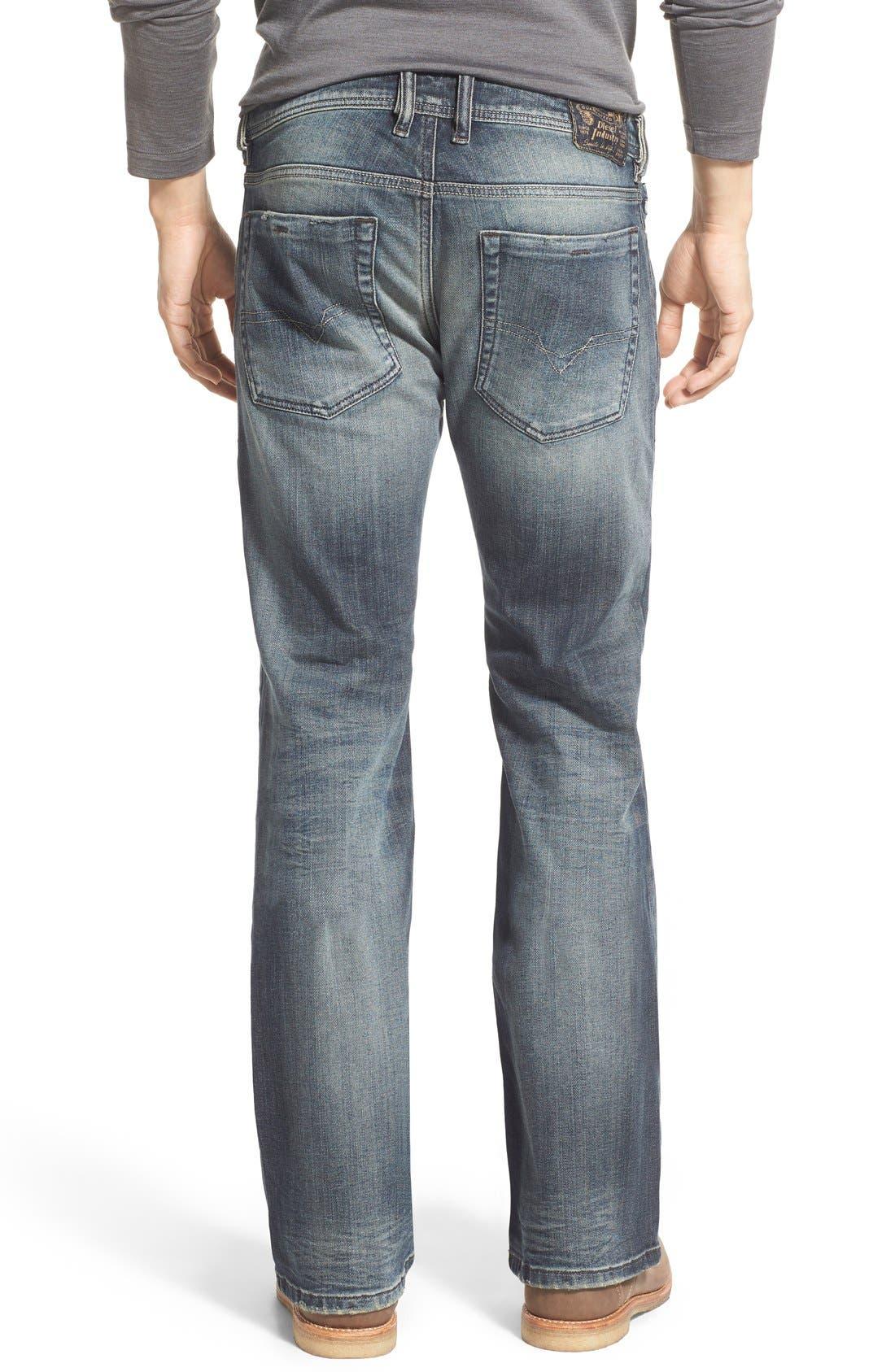 'Zathan' Bootcut Jeans,                             Alternate thumbnail 4, color,                             400