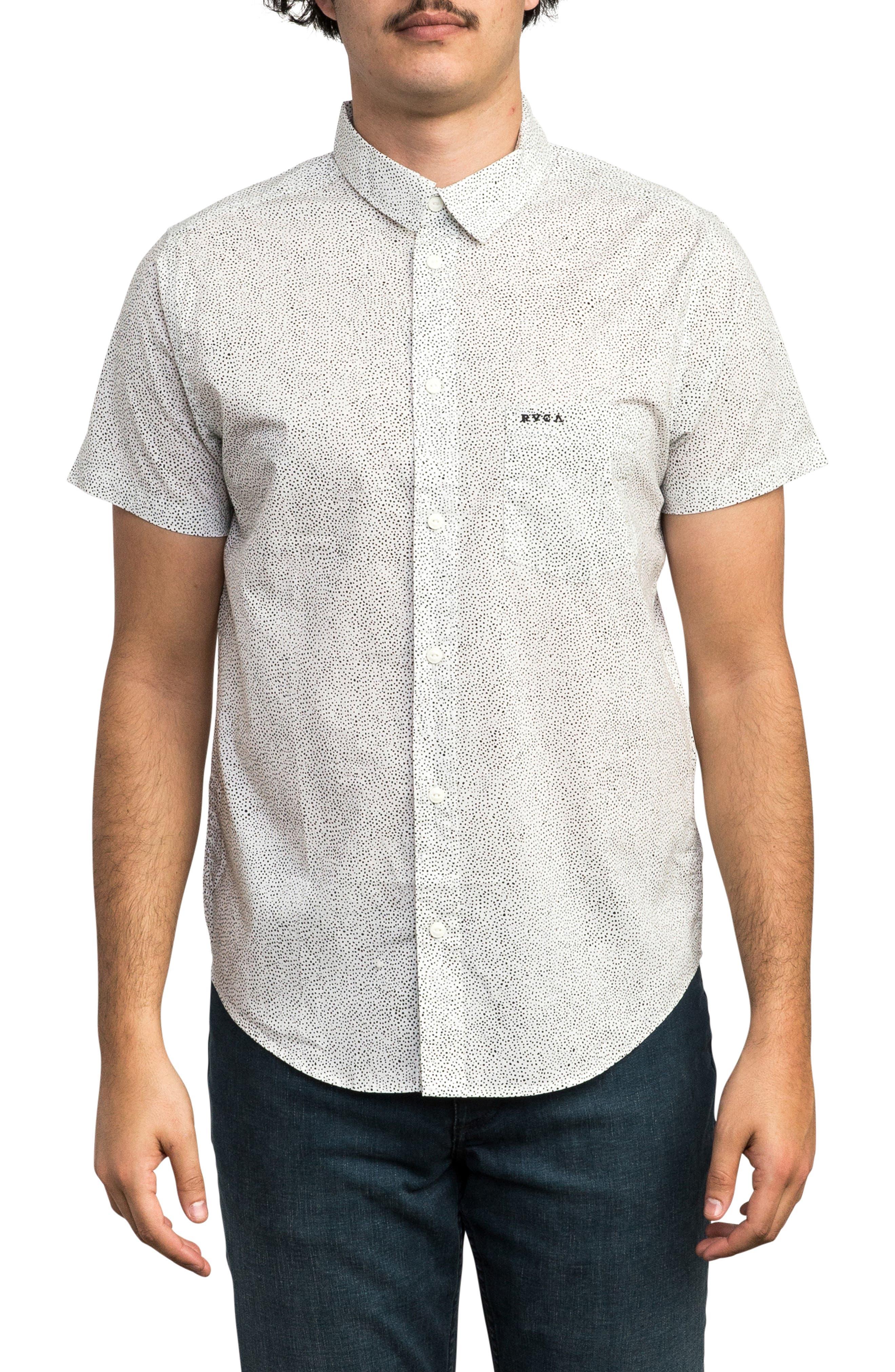 Benji Short Sleeve Woven Shirt,                         Main,                         color, ANTIQUE WHITE