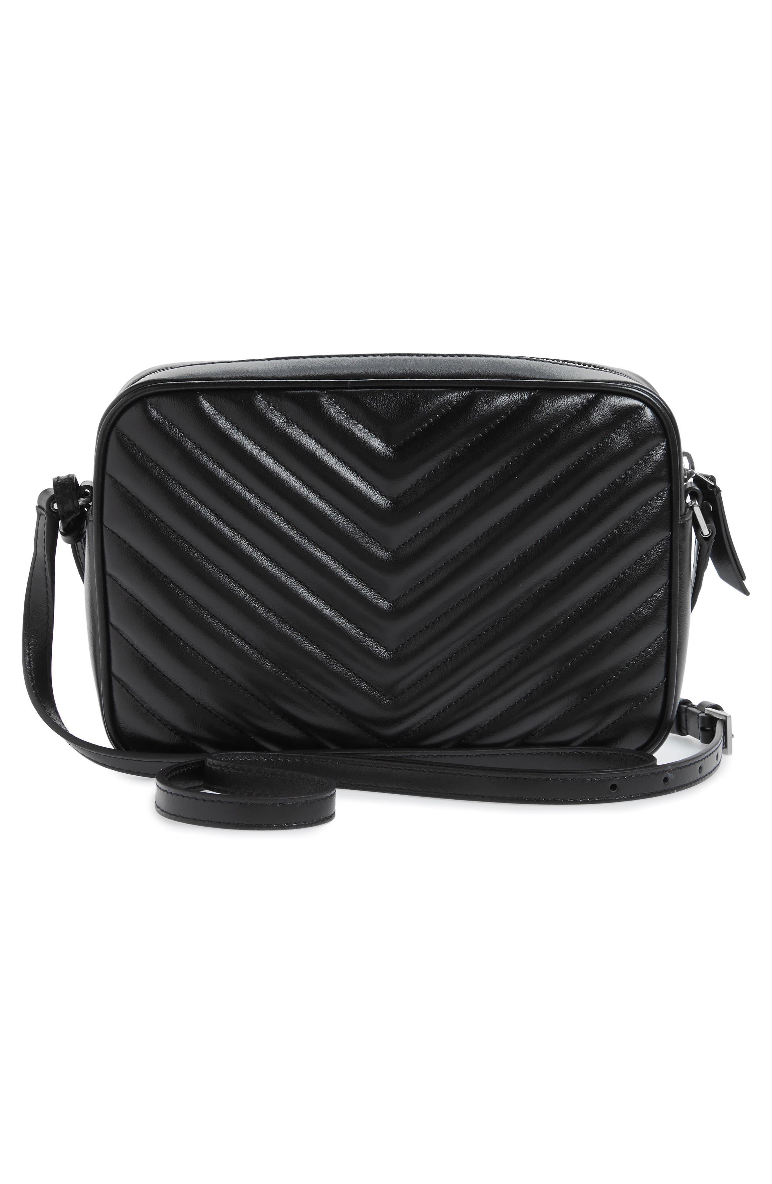 Medium Lou Calfskin Leather Camera Bag,                             Alternate thumbnail 3, color,                             001