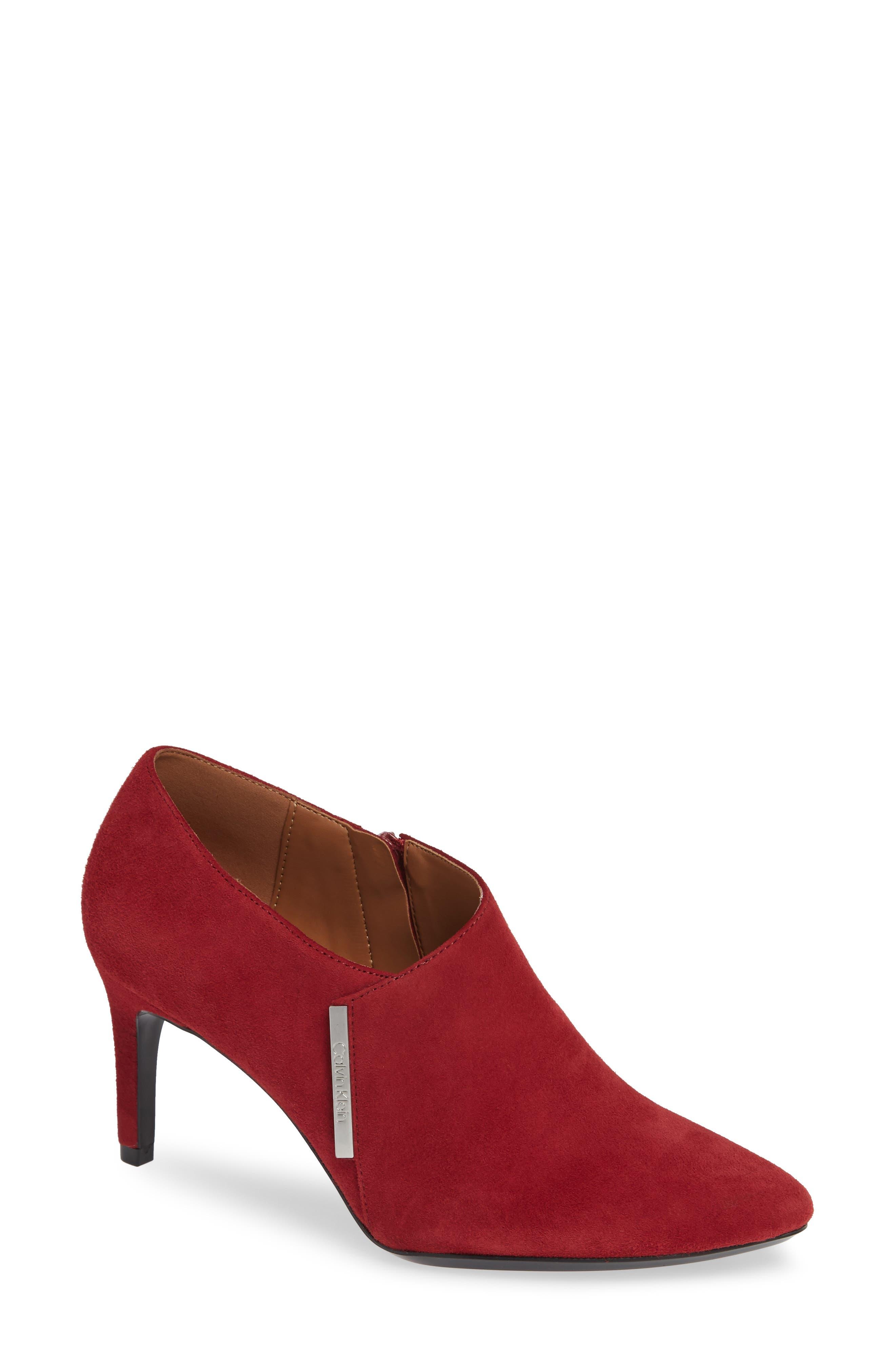 Calvin Klein Jeanna Bootie- Red