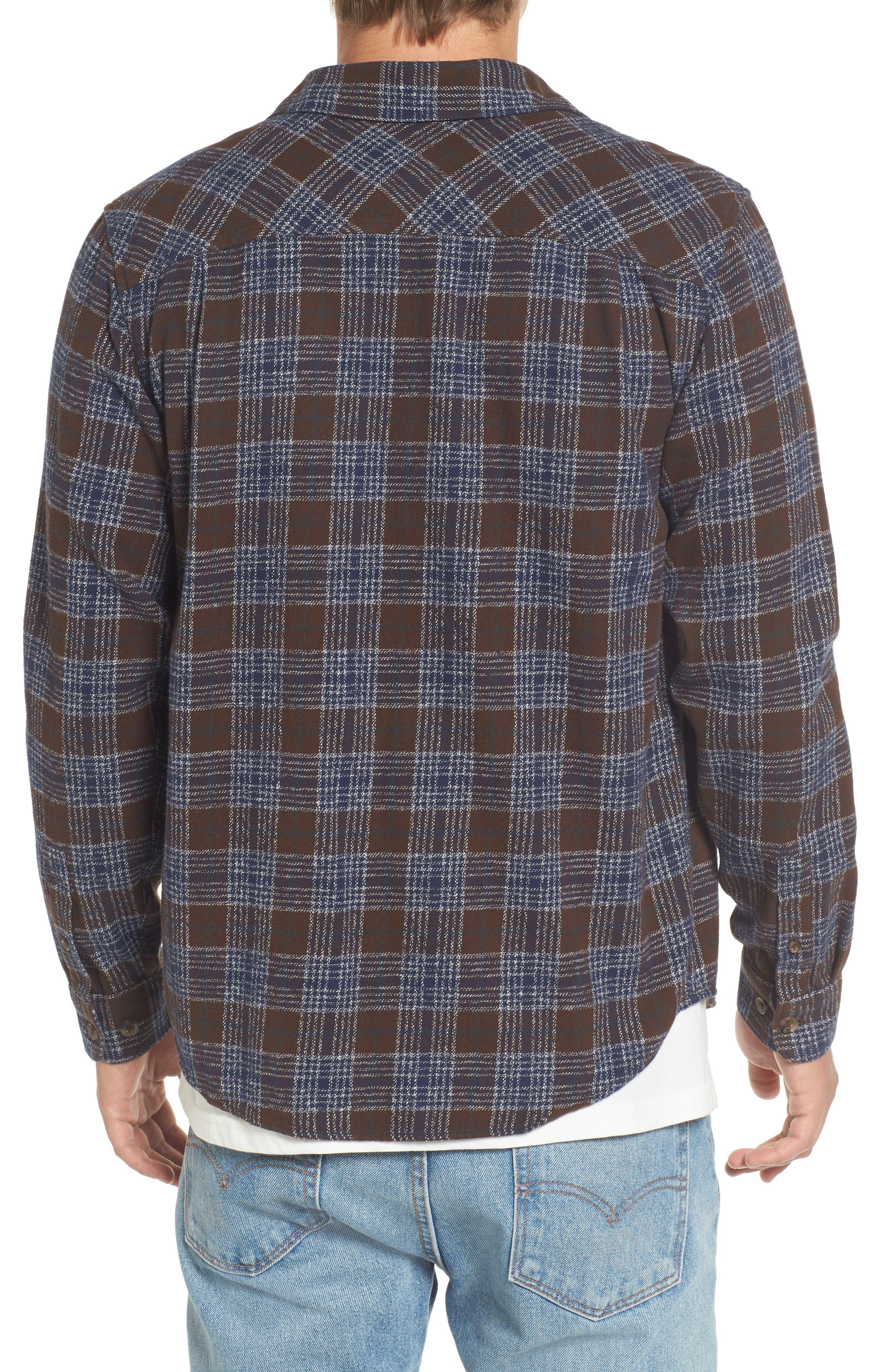 'That'll Work' Trim Fit Plaid Flannel Shirt,                             Alternate thumbnail 16, color,