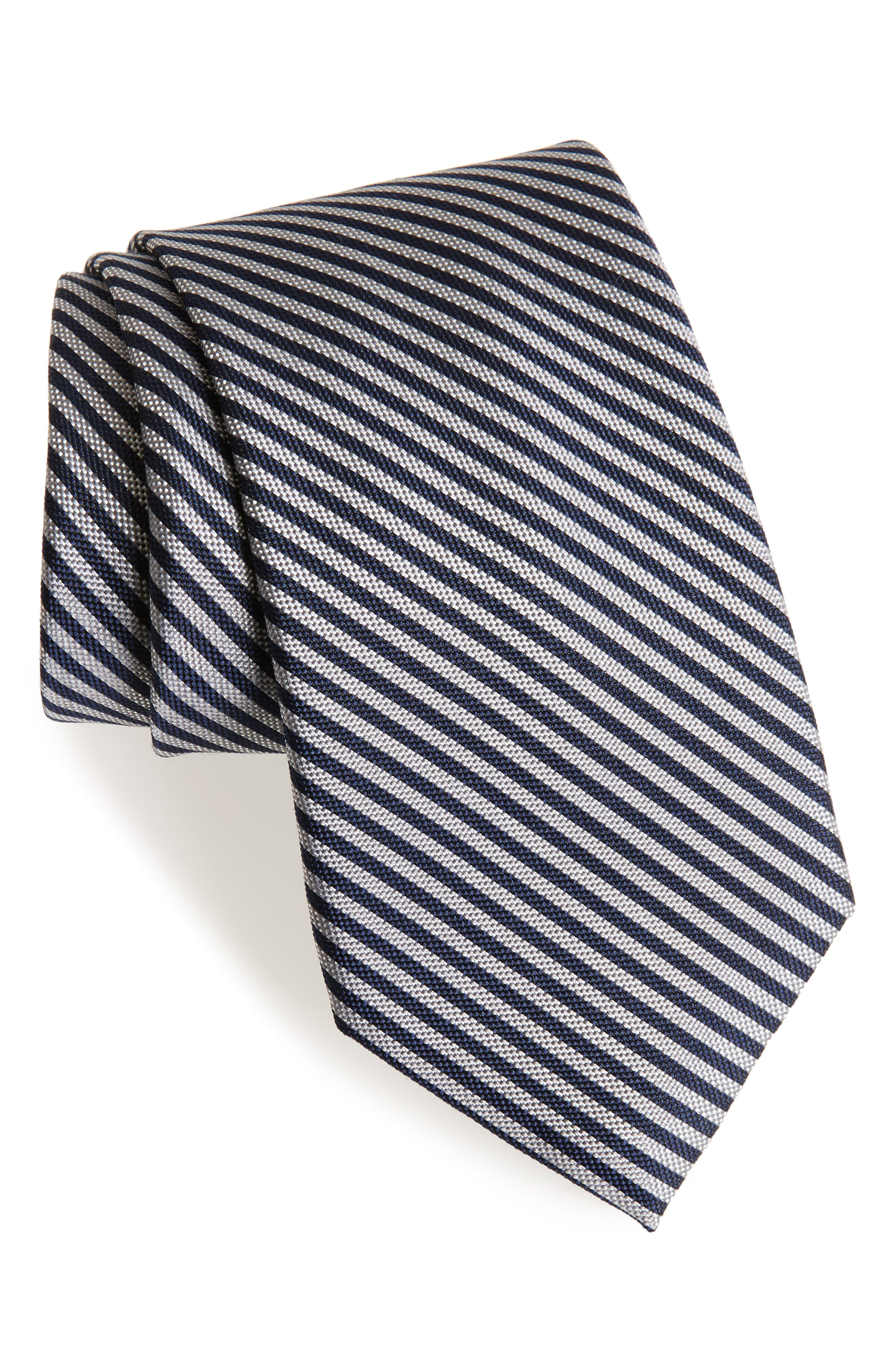 Stripe Silk Tie,                             Main thumbnail 1, color,