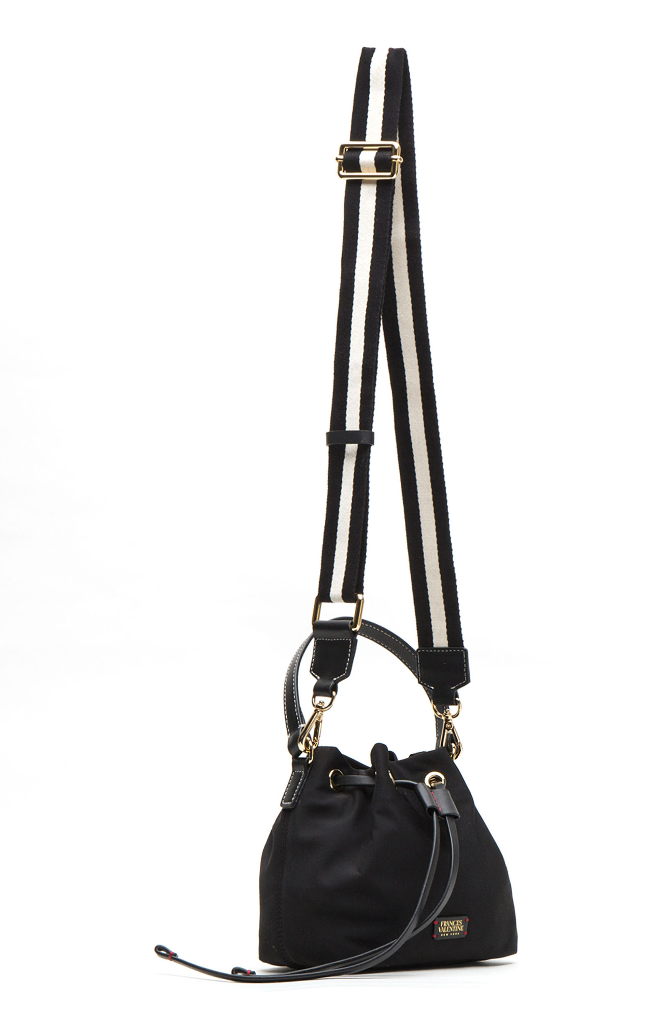 Small Ann Nylon Bucket Bag,                             Alternate thumbnail 8, color,