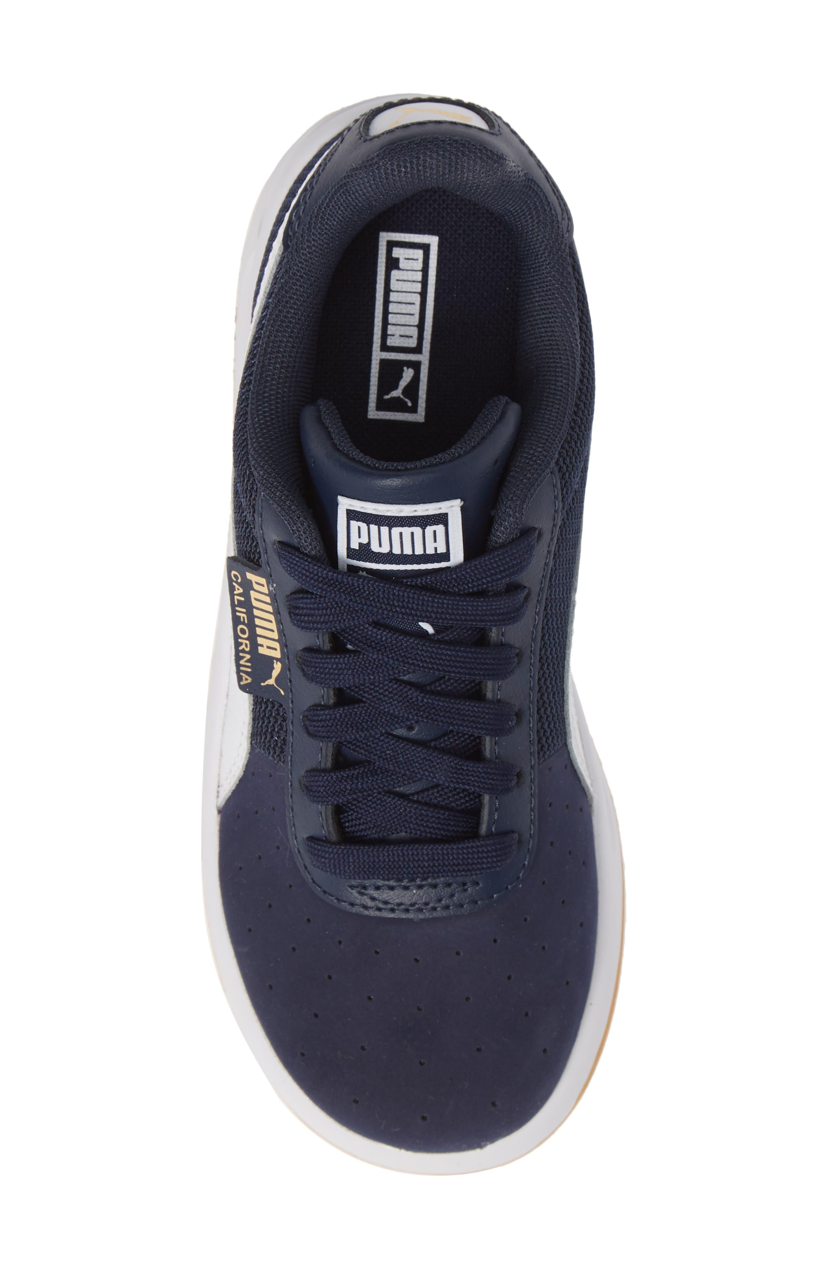 California Casual Jr. Sneaker,                             Alternate thumbnail 5, color,                             PEACOAT-PUMA WHITE-GOLD