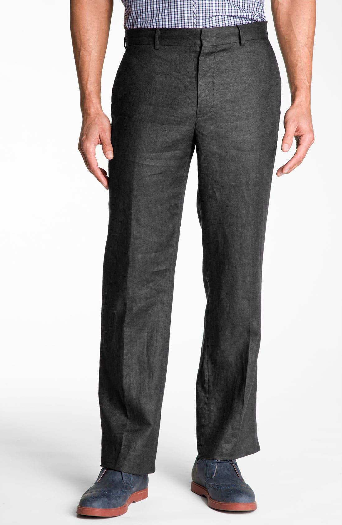 MICHAEL KORS,                             'Classic' Linen Pants,                             Main thumbnail 1, color,                             024