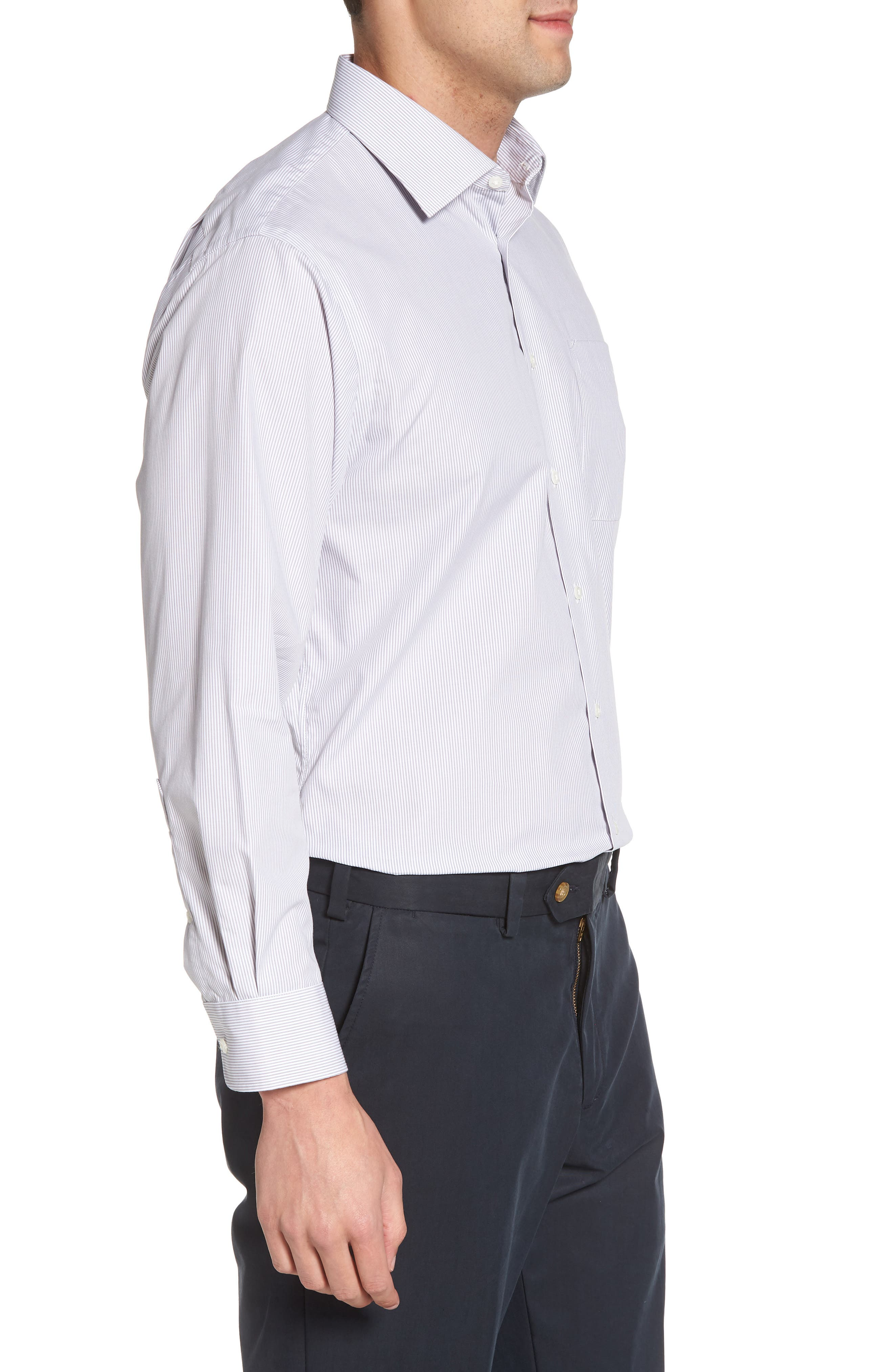 Smartcare<sup>™</sup> Traditional Fit Stripe Dress Shirt,                             Alternate thumbnail 4, color,                             051