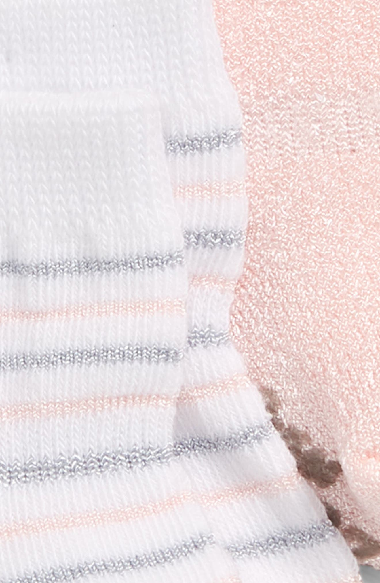 3-Pack Ankle Socks,                             Alternate thumbnail 2, color,                             SILVER/ WHITE/ PINK