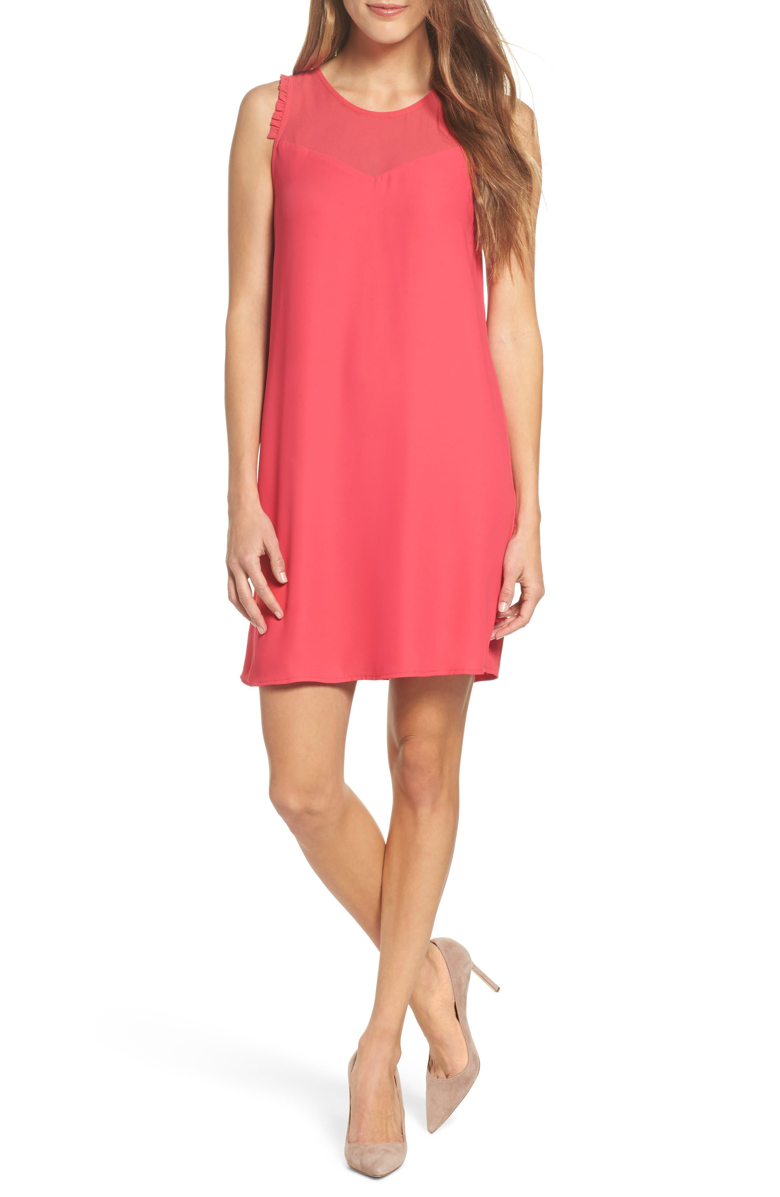 Chiffon Shift Dress,                         Main,                         color, 650