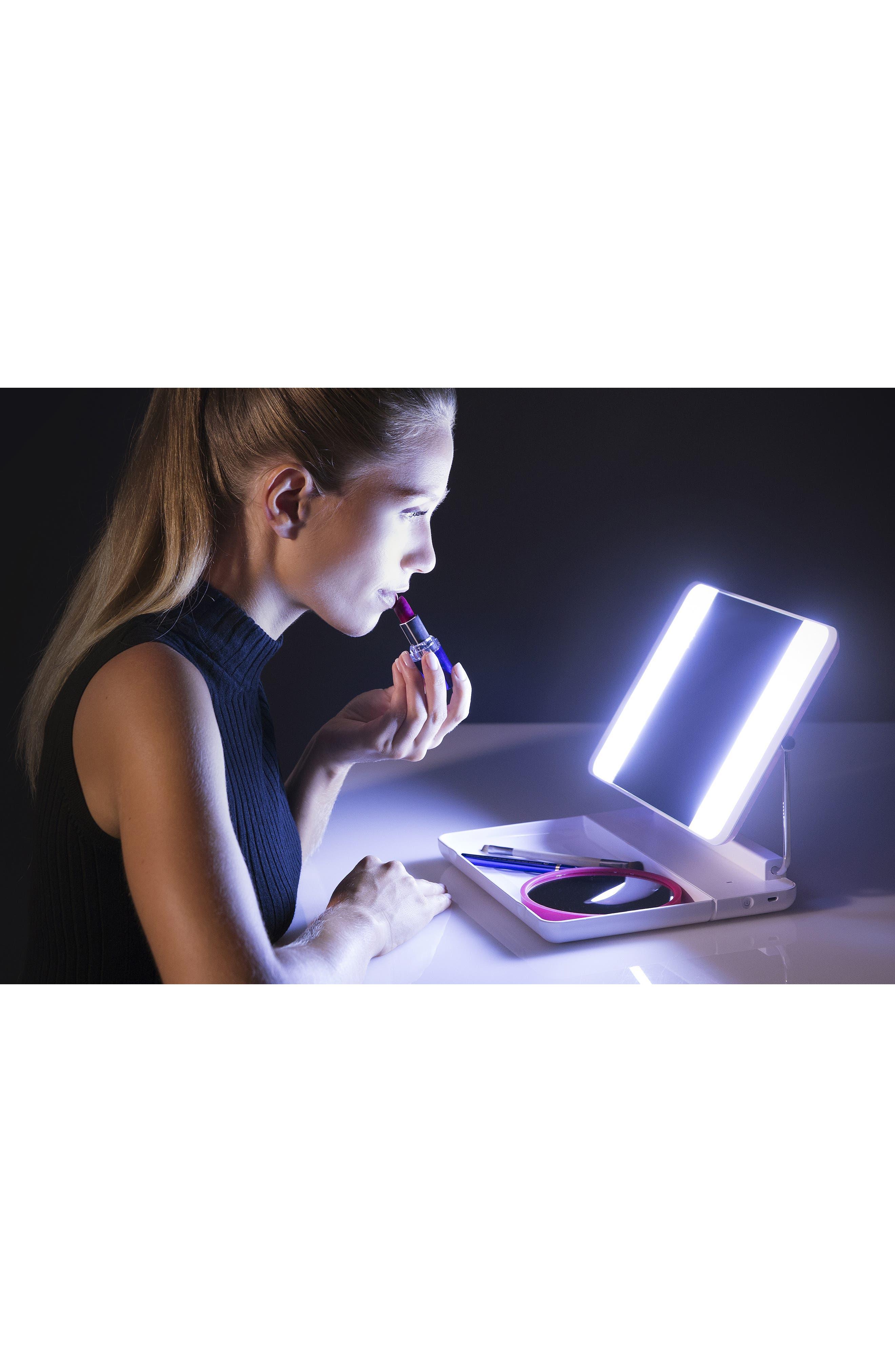 JOI Spotlite HD Diamond Makeup Mirror in Hot Blush,                             Alternate thumbnail 5, color,                             000