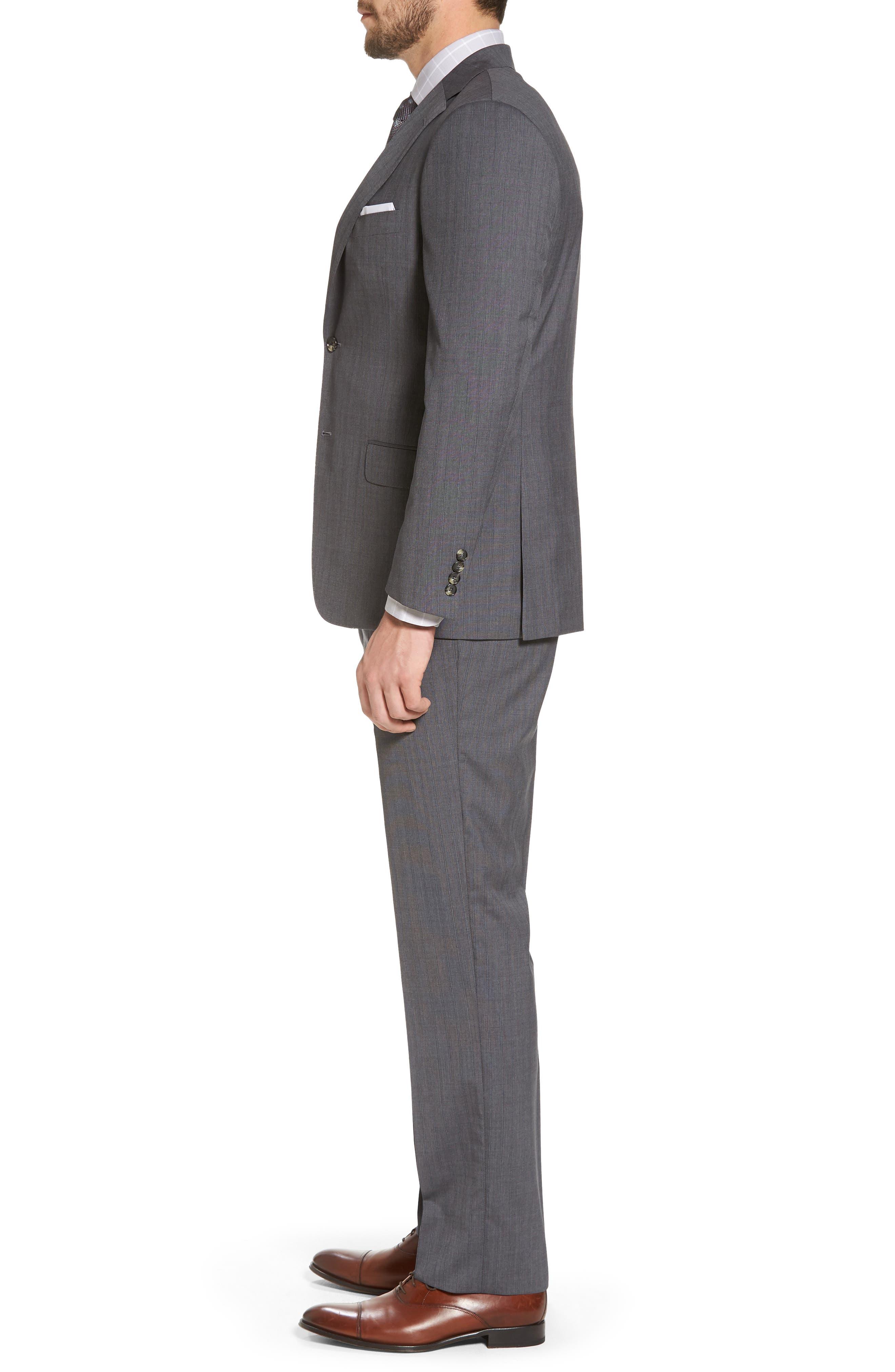 Classic B Fit Stripe Wool Suit,                             Alternate thumbnail 3, color,