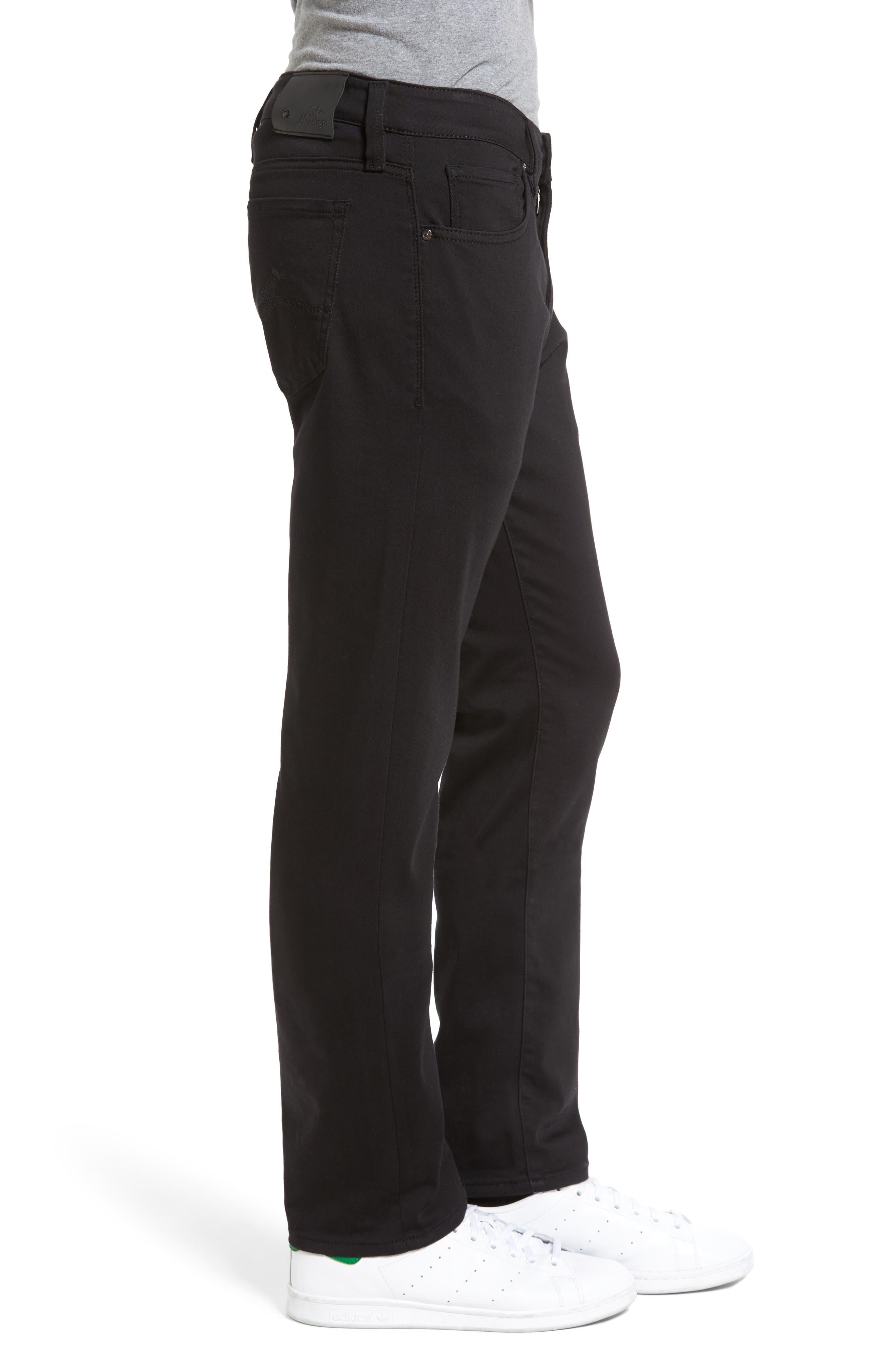 Courage Straight Leg Jeans,                             Alternate thumbnail 3, color,                             SELECT DOUBLE BLACK