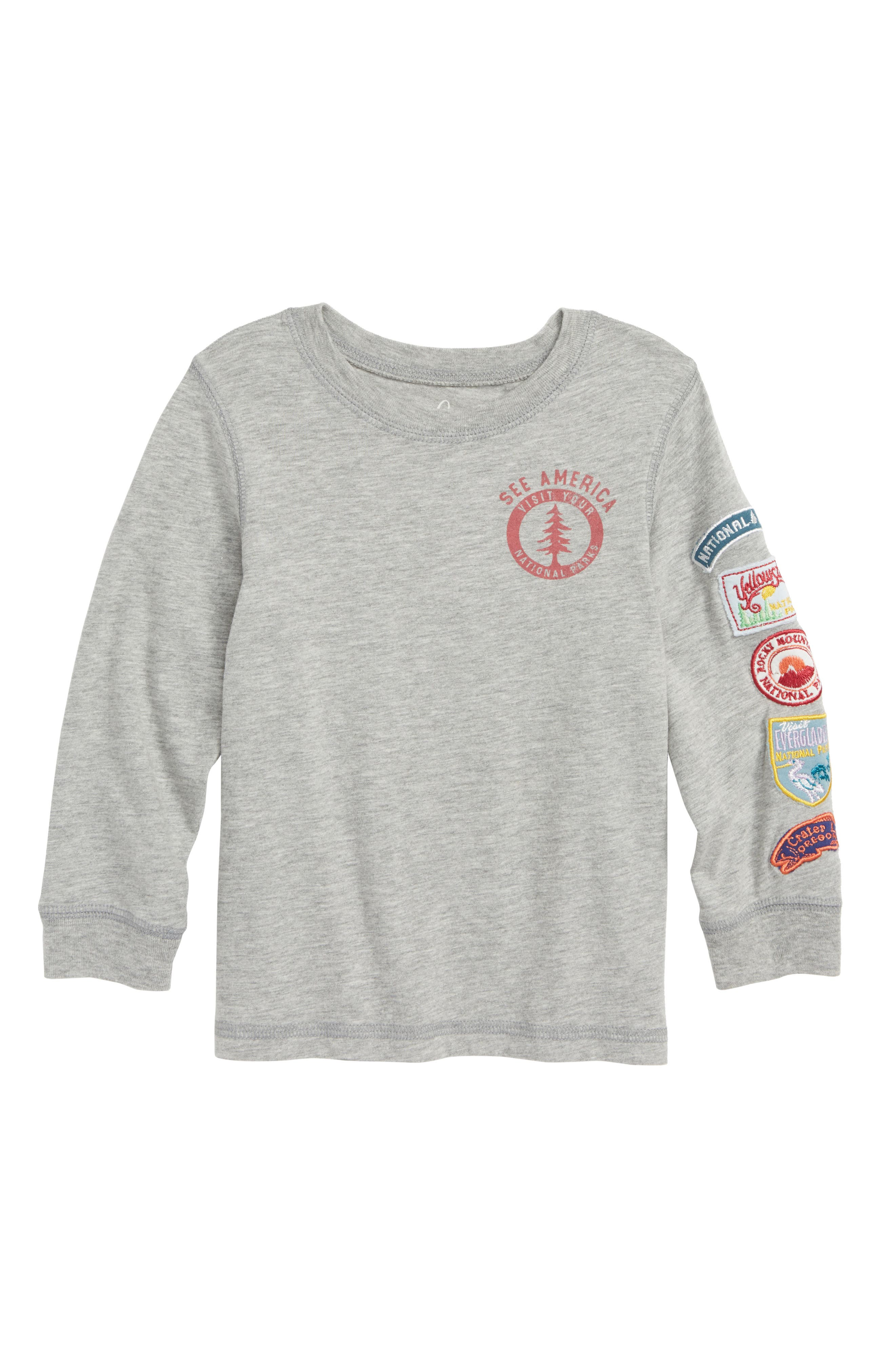 See America Graphic T-Shirt,                             Main thumbnail 1, color,                             LIGHT GREY