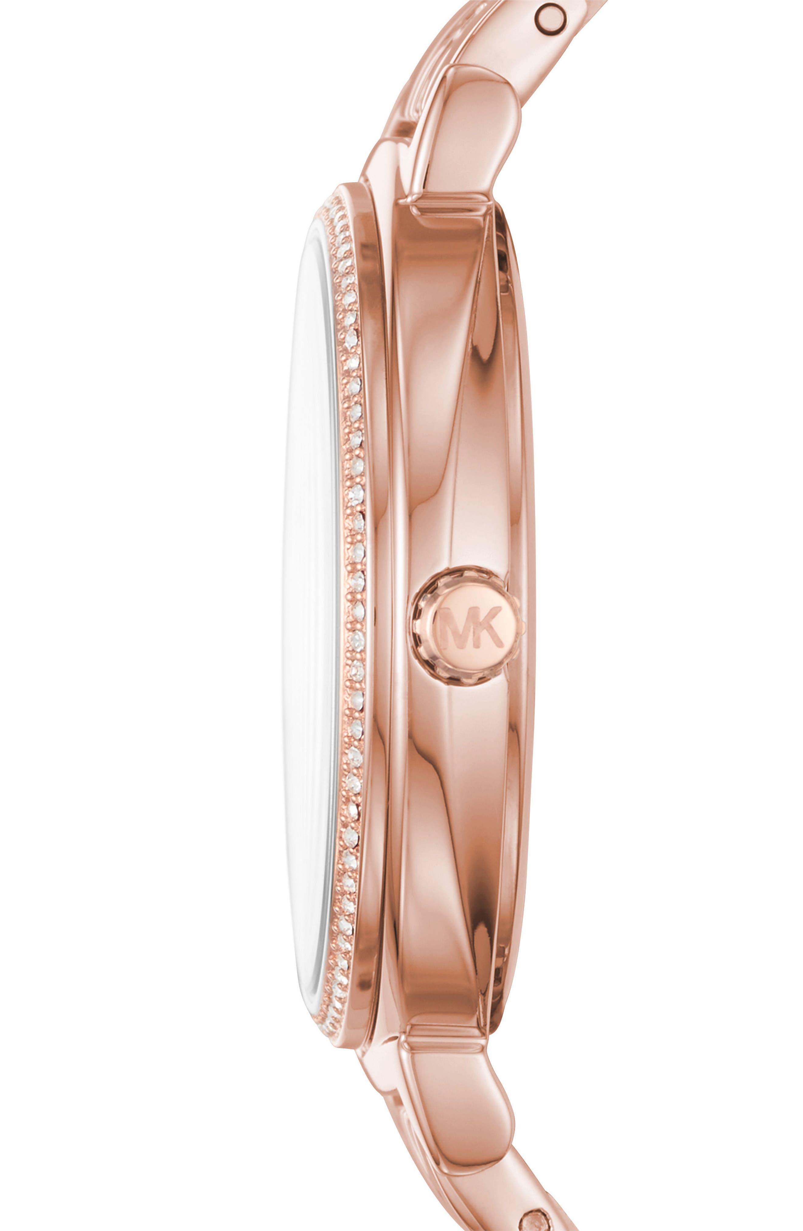 Cinthia Bracelet Watch, 33mm,                             Alternate thumbnail 2, color,                             ROSE GOLD/ SILVER