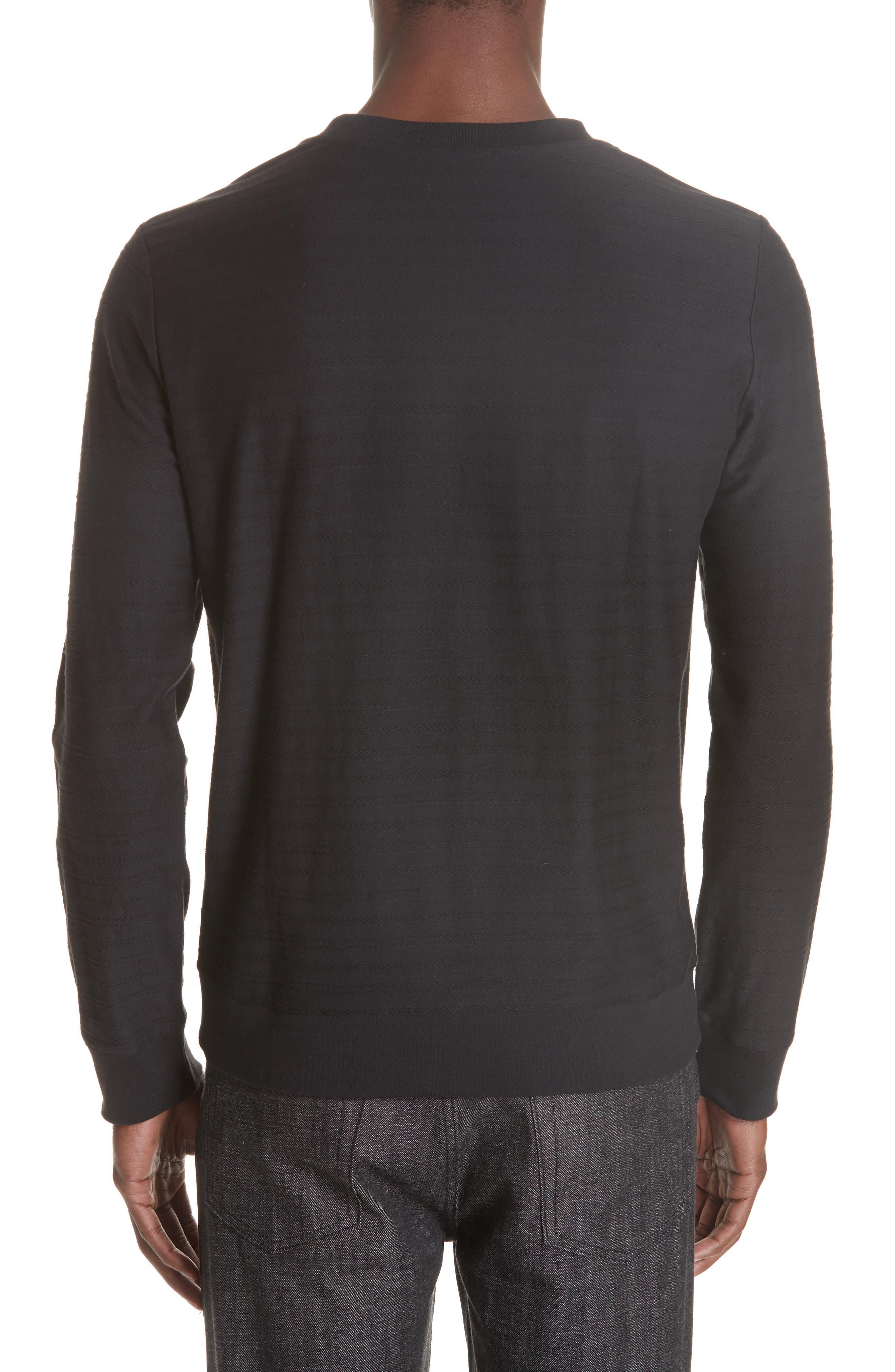 Jacquard Stripe Long Sleeve T-Shirt,                             Alternate thumbnail 2, color,                             062