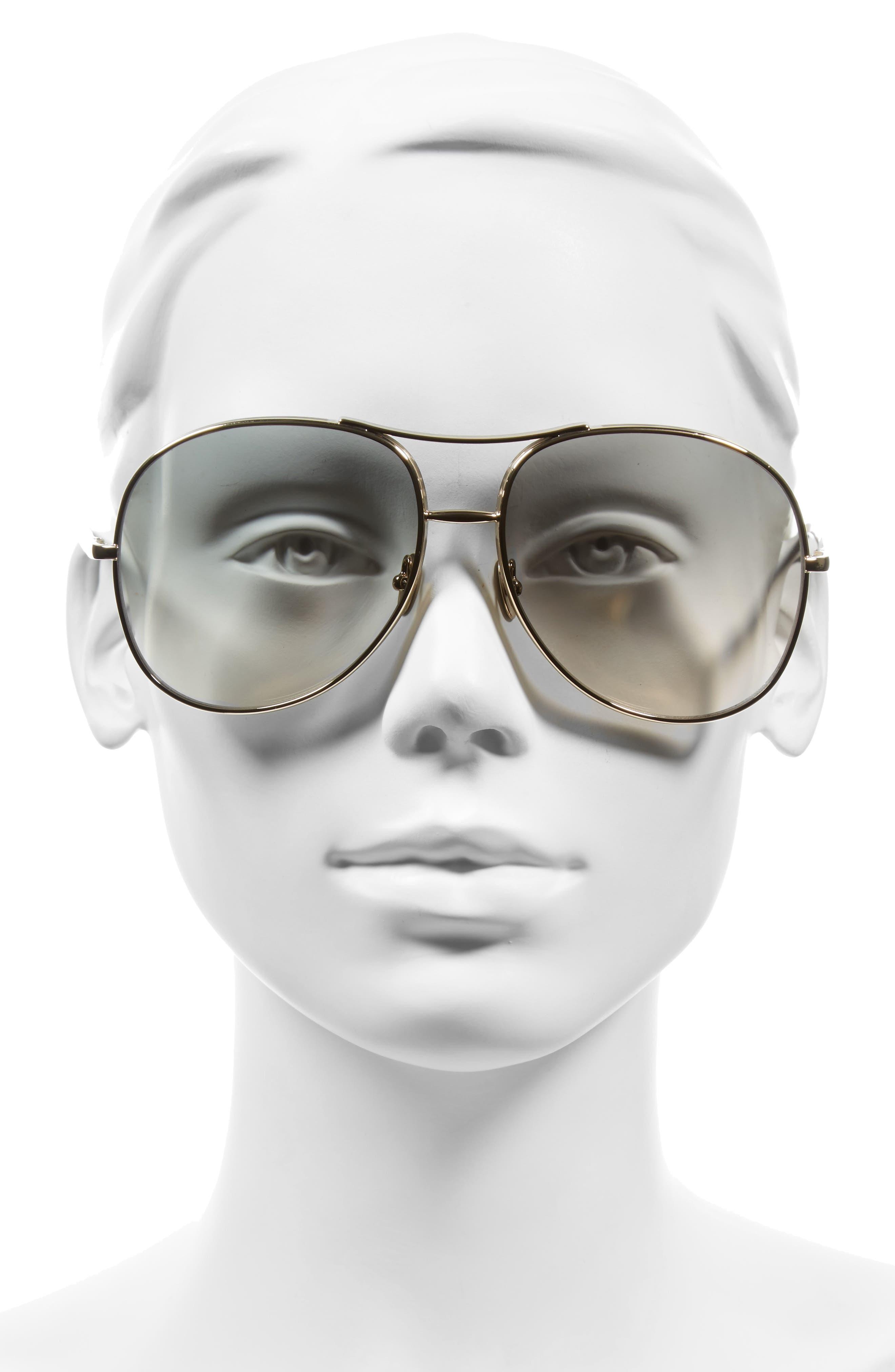 61mm Oversize Sunglasses,                             Alternate thumbnail 7, color,