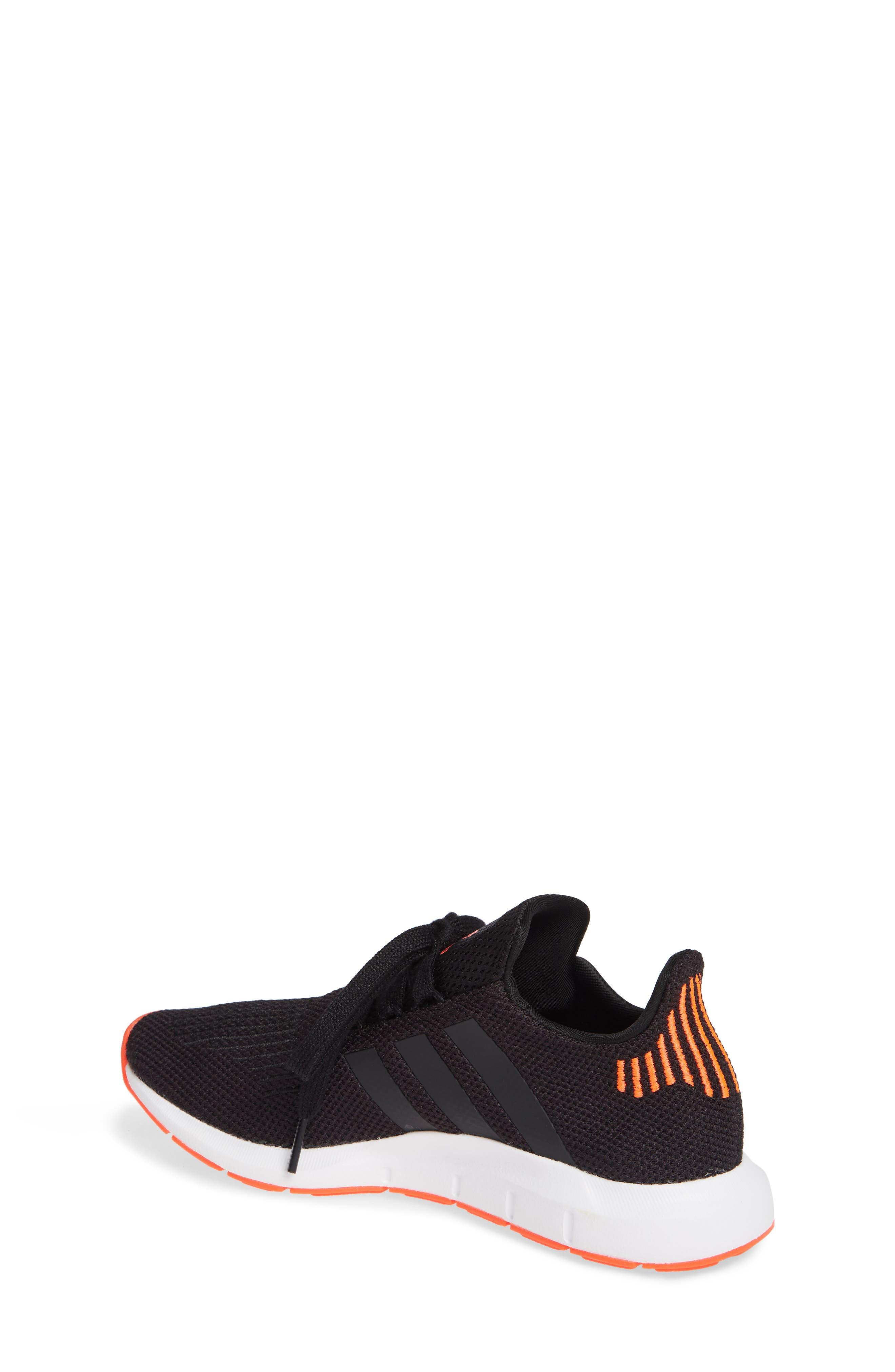Swift Run J Sneaker,                             Alternate thumbnail 2, color,                             BLACK/ BLACK/ SOLAR RED