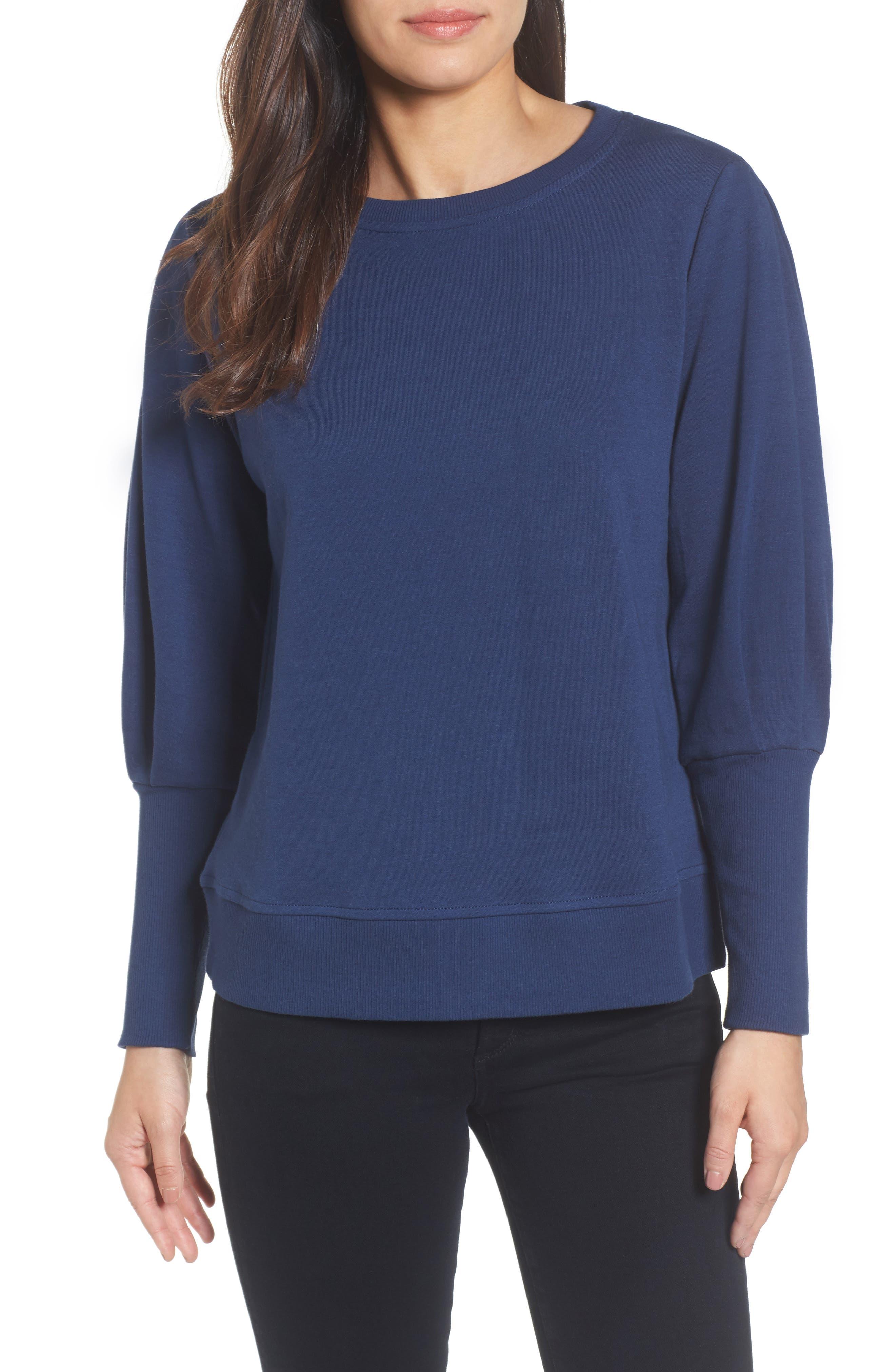 Blouson Sleeve Sweatshirt,                             Main thumbnail 4, color,