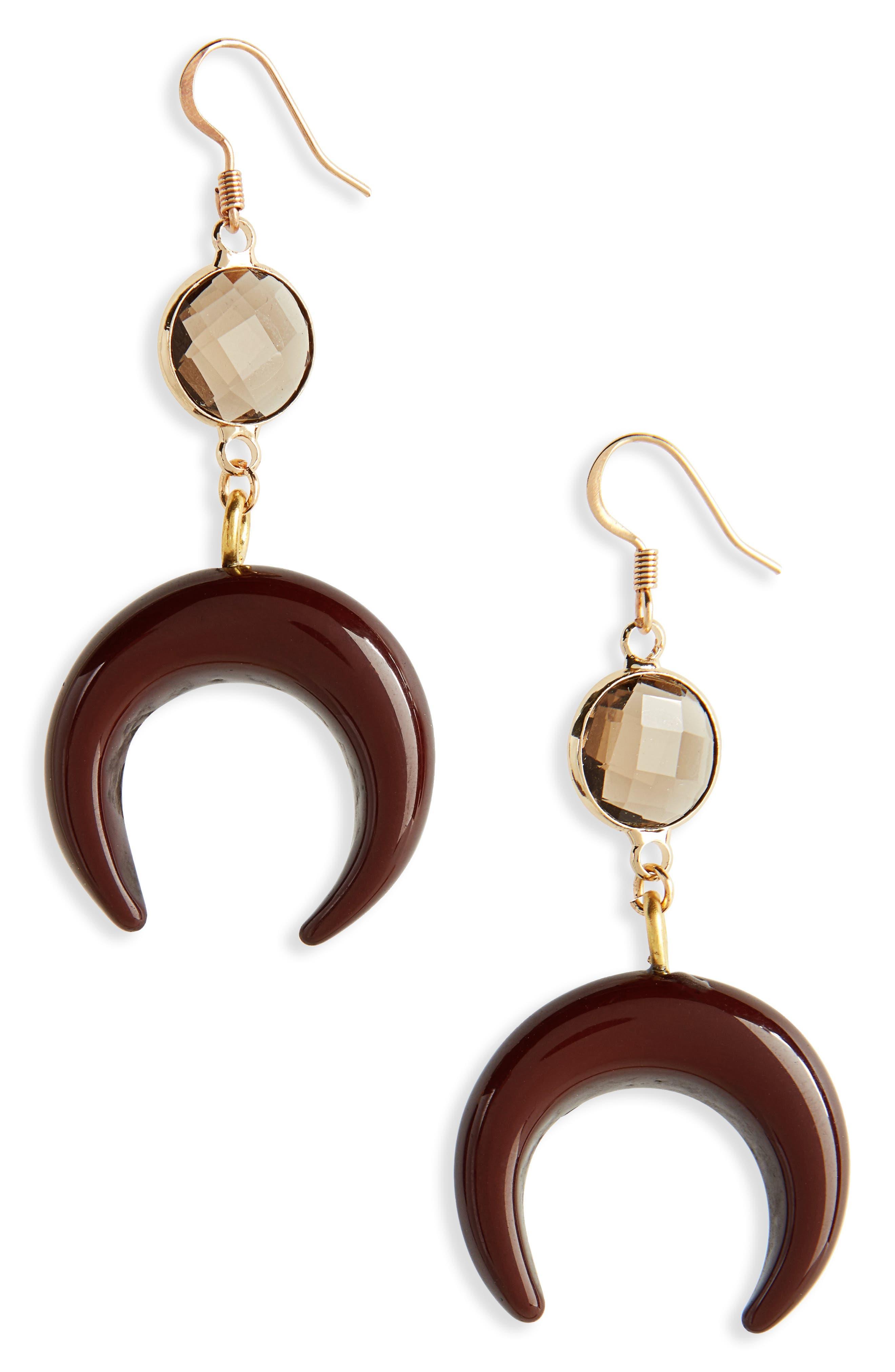 Love's Affect Zoe Crescent Drop Earrings,                         Main,                         color, 200
