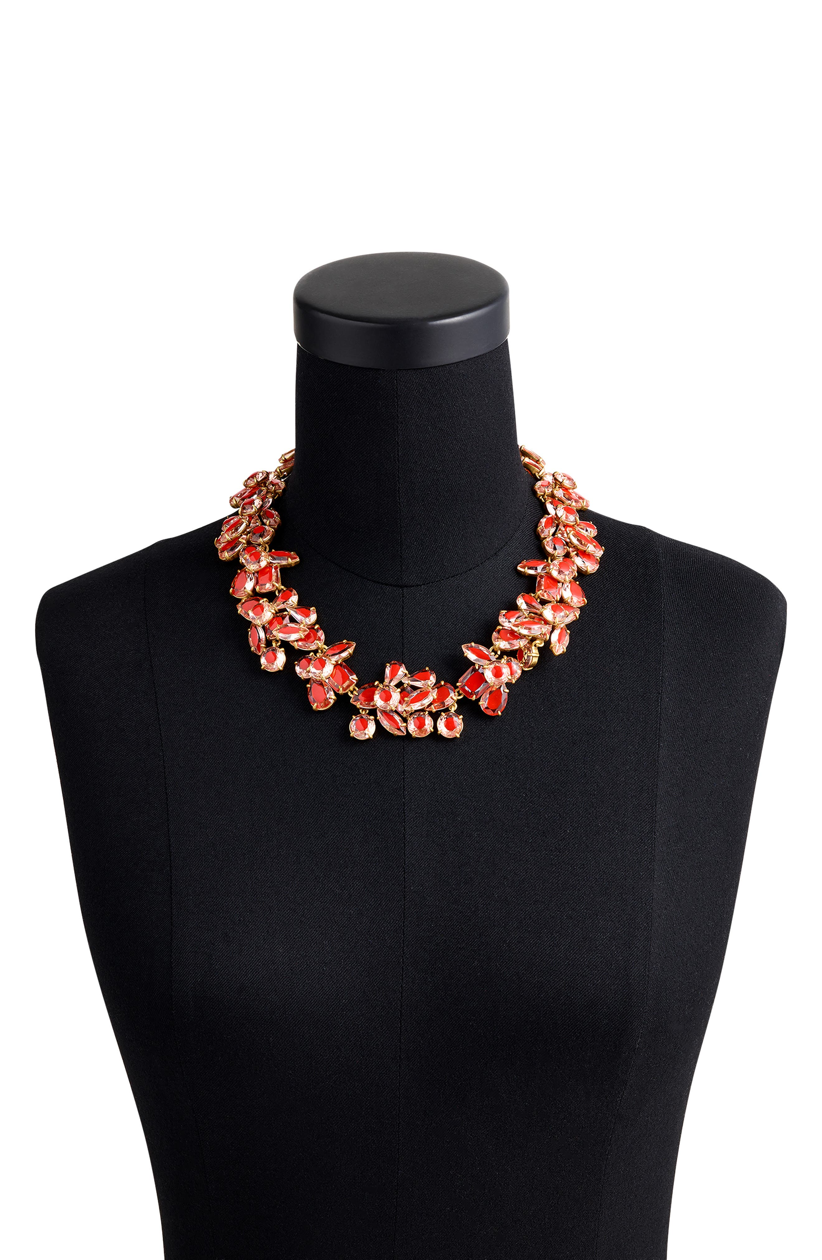 Crystal Cluster Stone Necklace,                             Alternate thumbnail 2, color,                             PINK