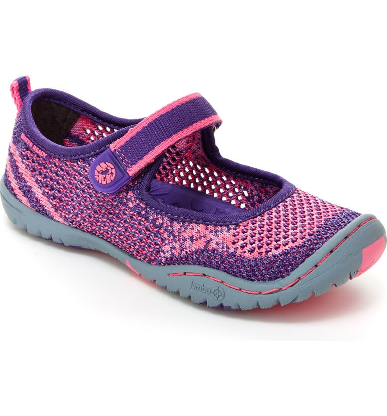 83f6f8530664f0 Jambu  Sora  Knitted Water Repellent Mary Jane Flat (Toddler