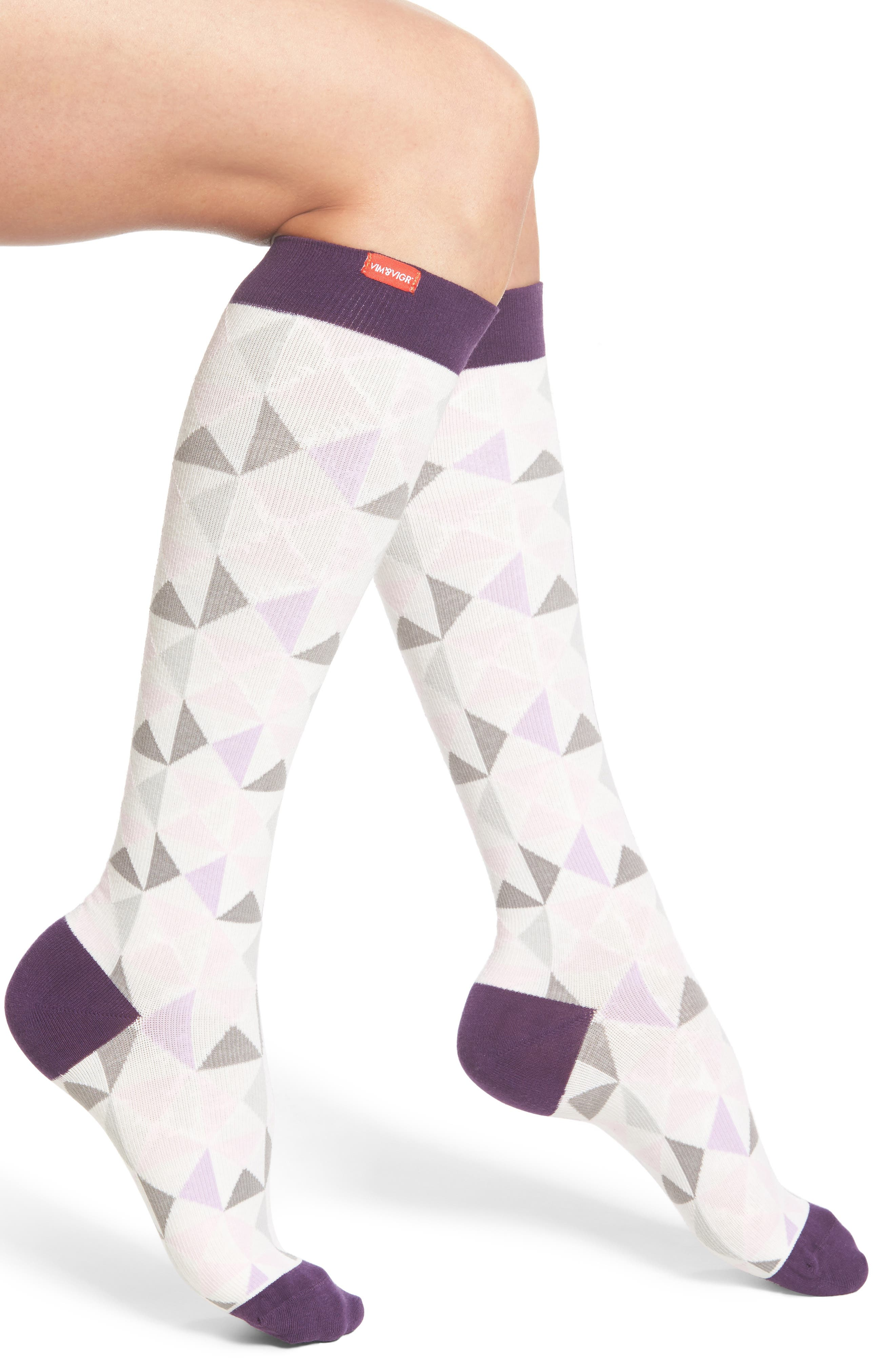 Compression Knee High Socks,                             Main thumbnail 2, color,