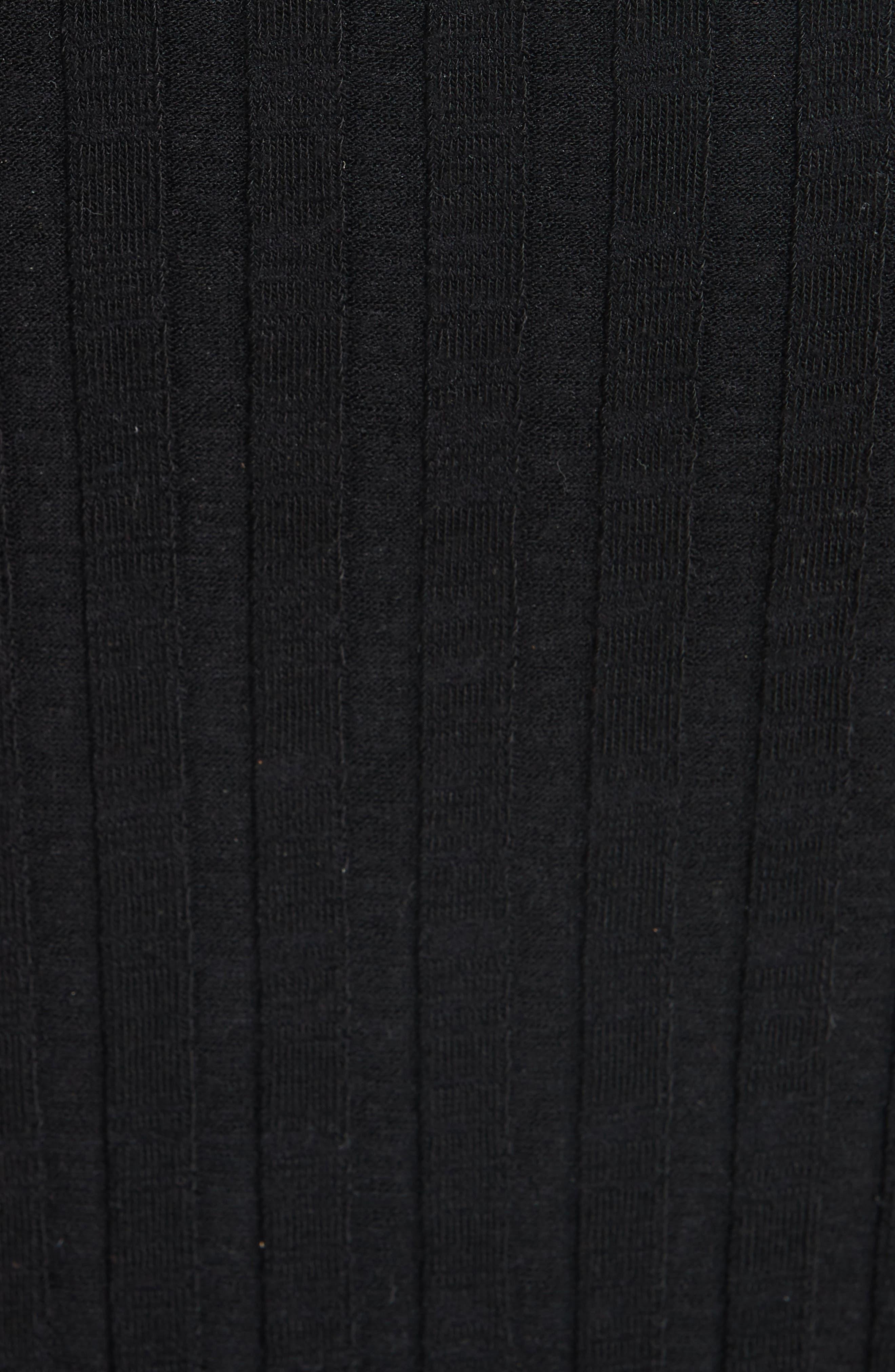 Rib Dress,                             Alternate thumbnail 6, color,                             BLACK